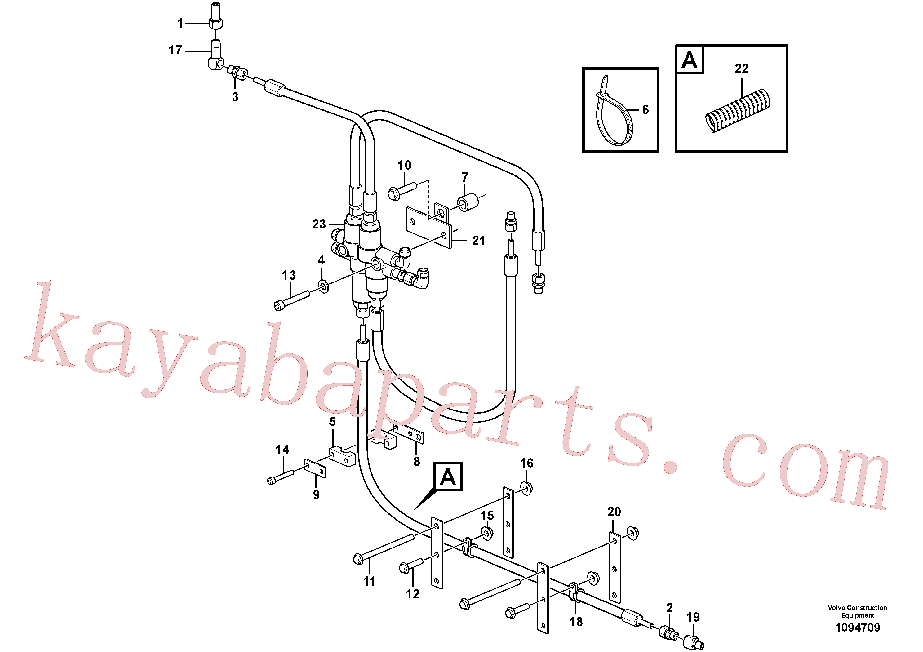 VOE11003046 for Volvo Central lubrication with fitting parts. B3(1094709 assembly)