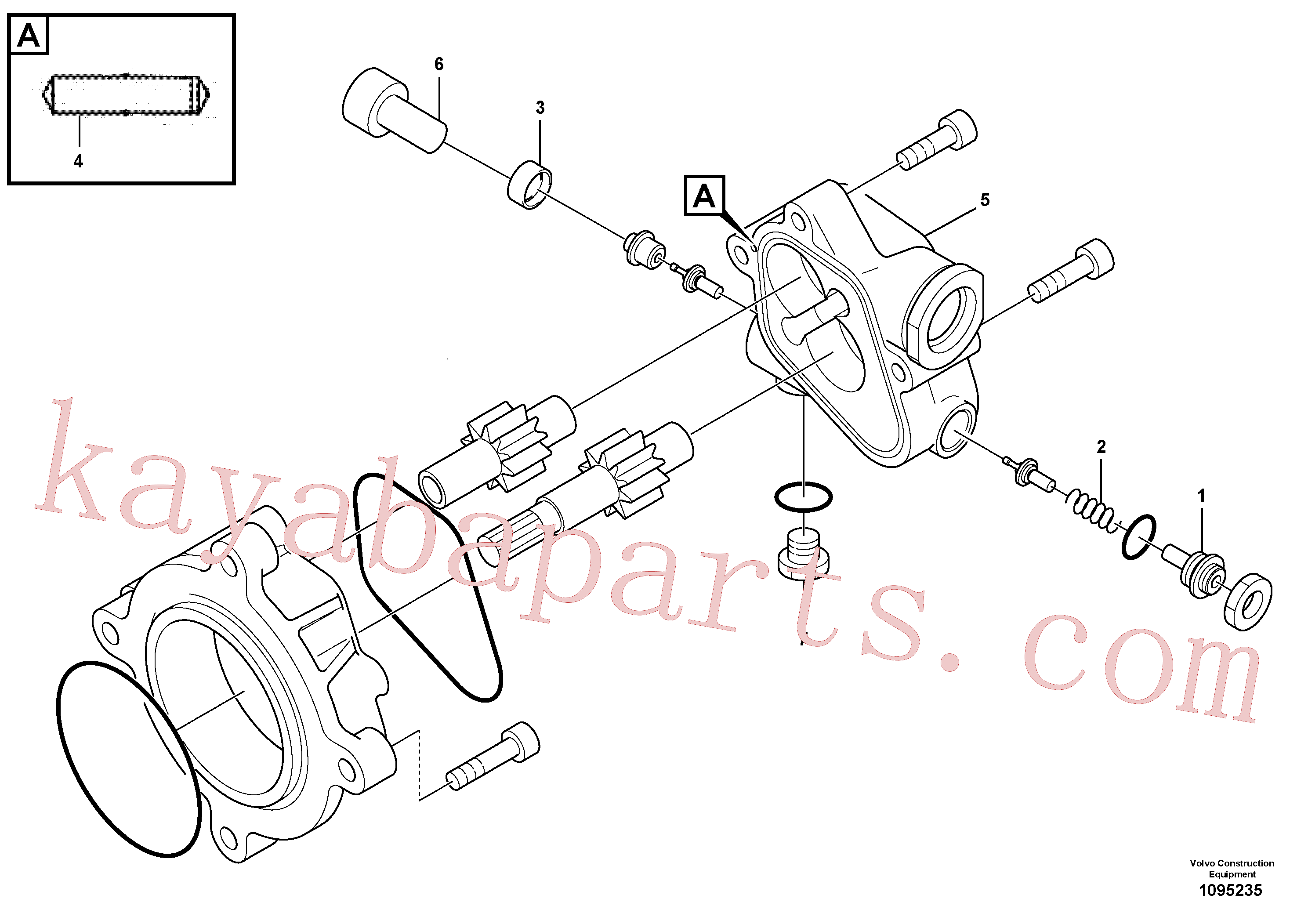SA8220-09190 for Volvo Hydraulic gear pump(1095235 assembly)