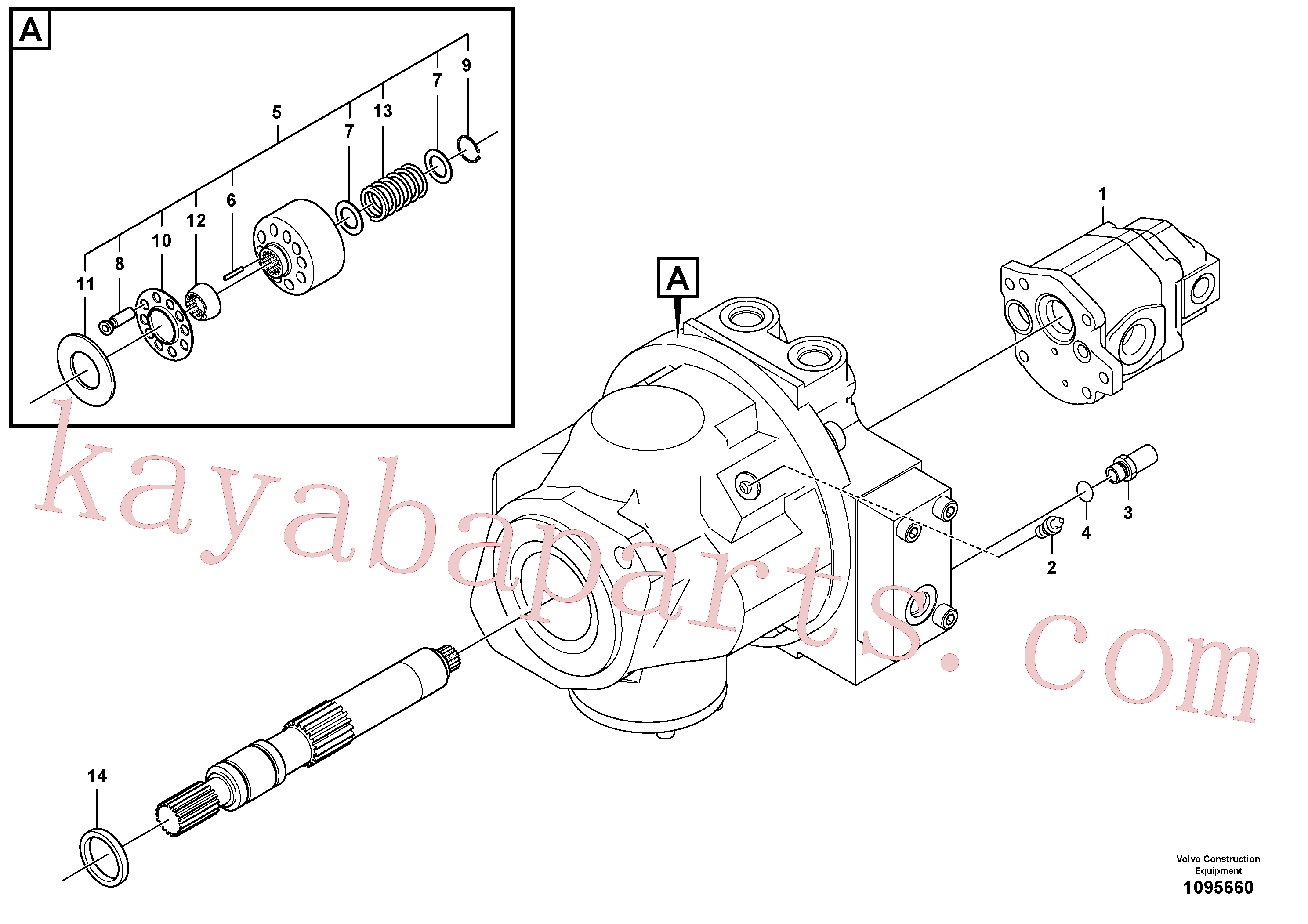SA8230-06960 for Volvo Hydraulic pump(1095660 assembly)