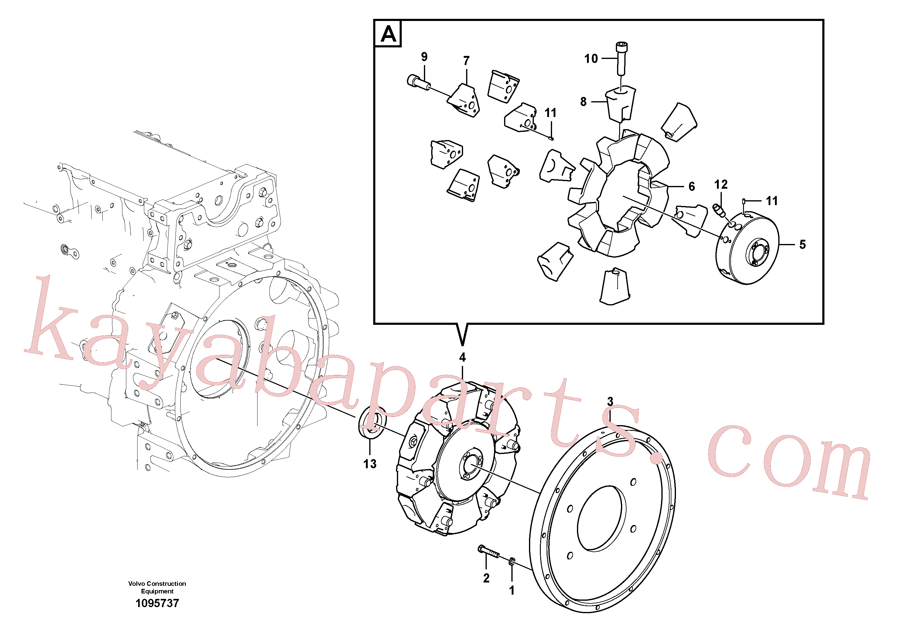 SA9325-08008 for Volvo Pump gearbox with assembling parts(1095737 assembly)
