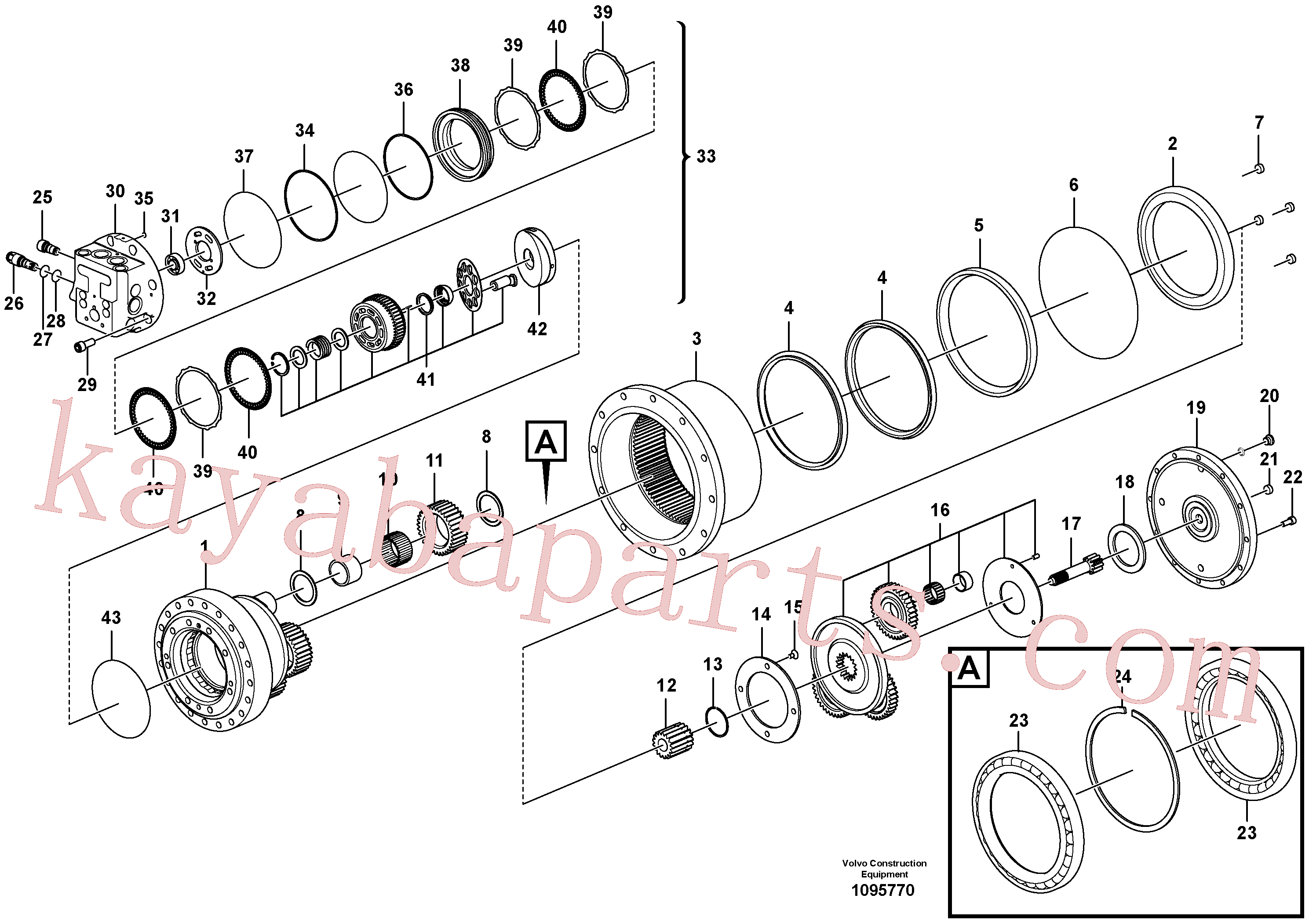 VOE14708139 for Volvo Travel gearbox(1095770 assembly)