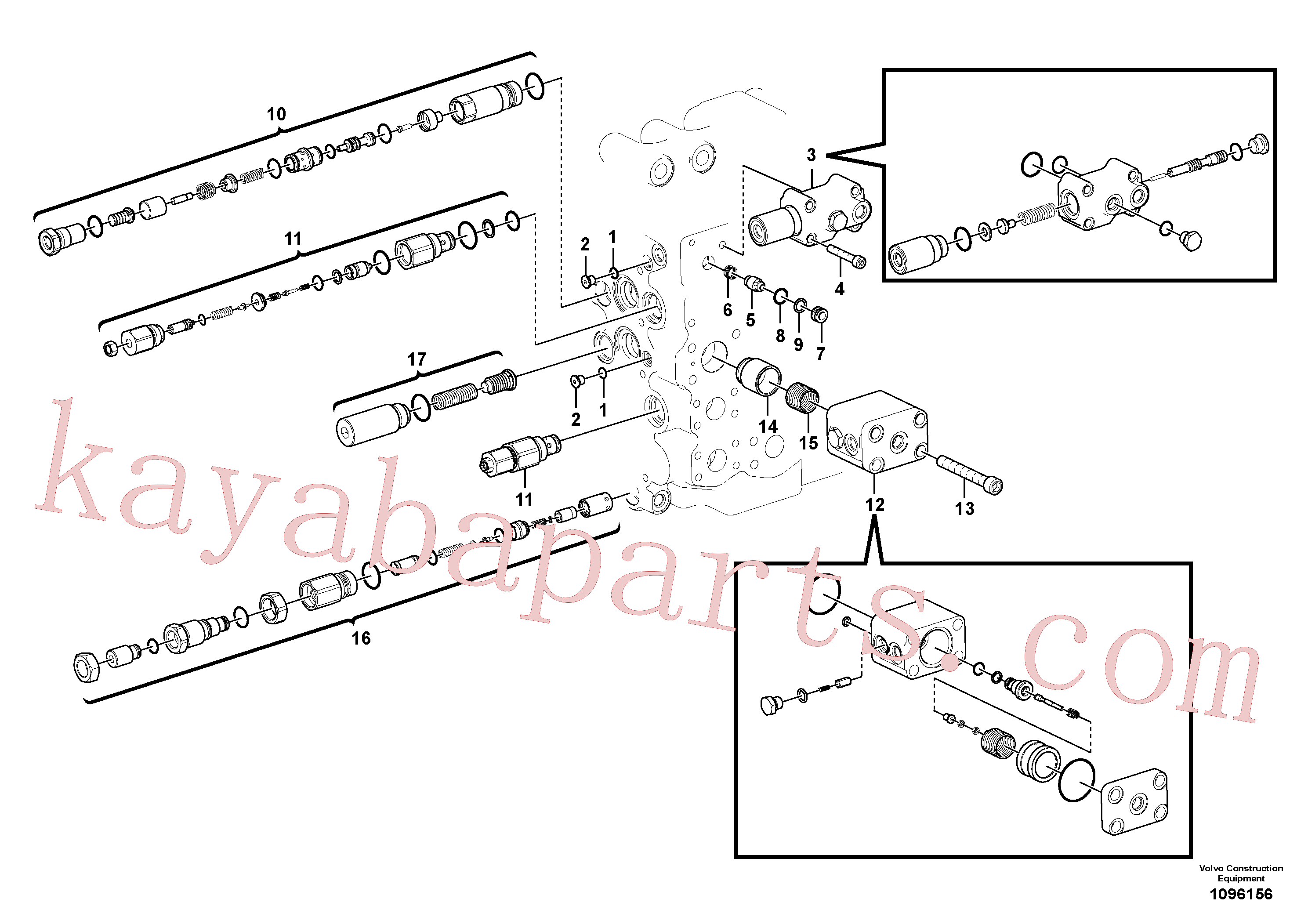 VOE14513864 for Volvo Main control valve(1096156 assembly)
