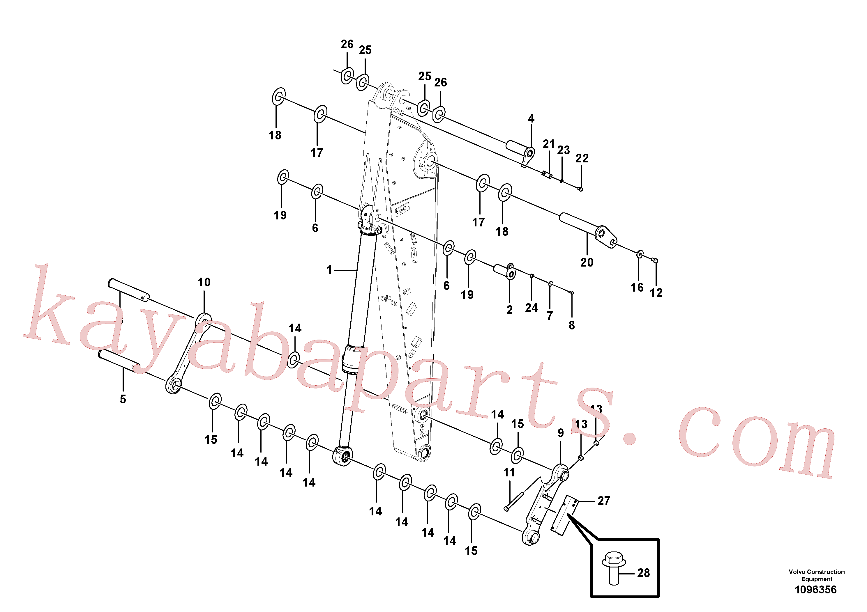 VOE14543206 for Volvo Links to dipper arm(1096356 assembly)