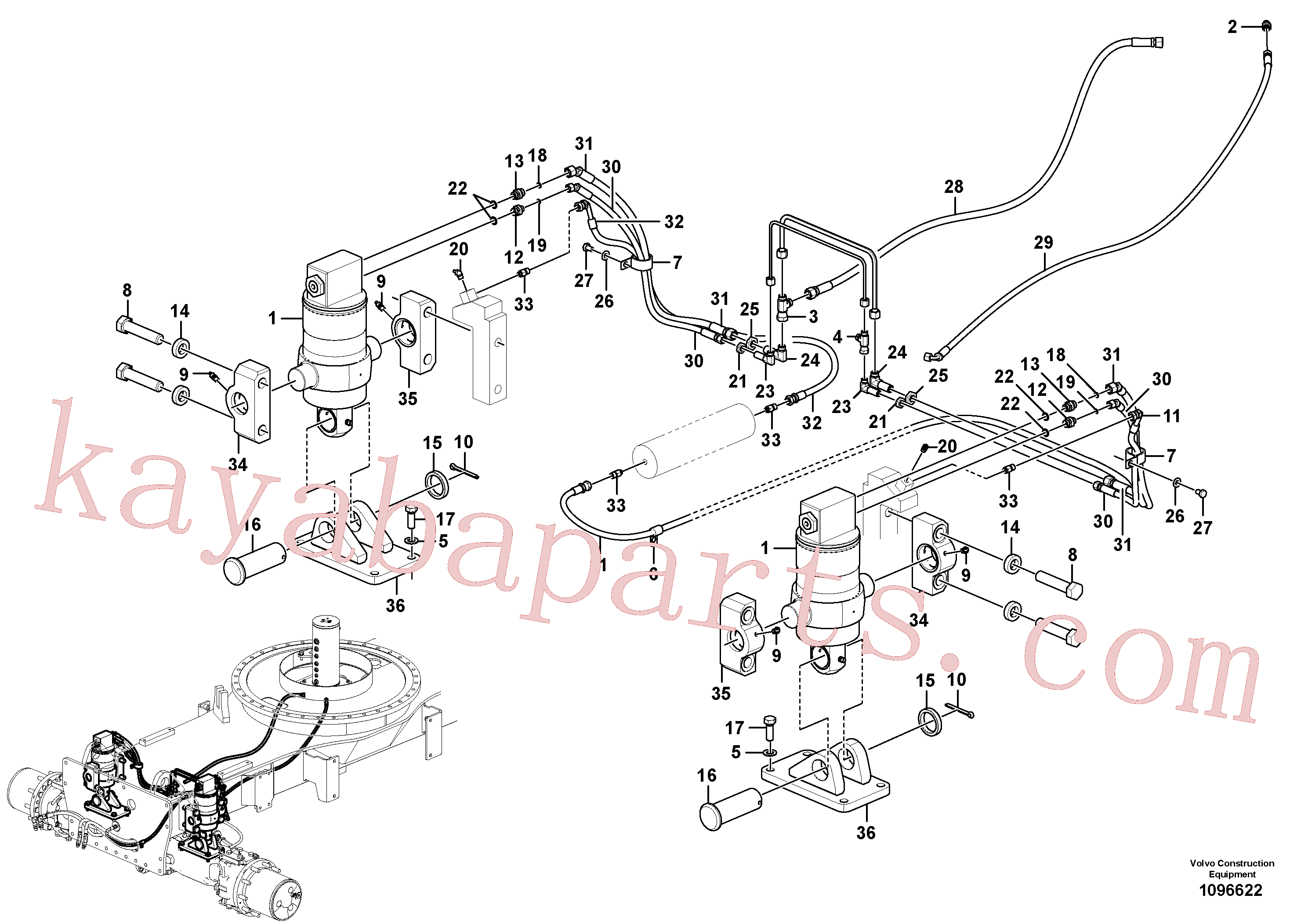 VOE936815 for Volvo Oscillating system(1096622 assembly)