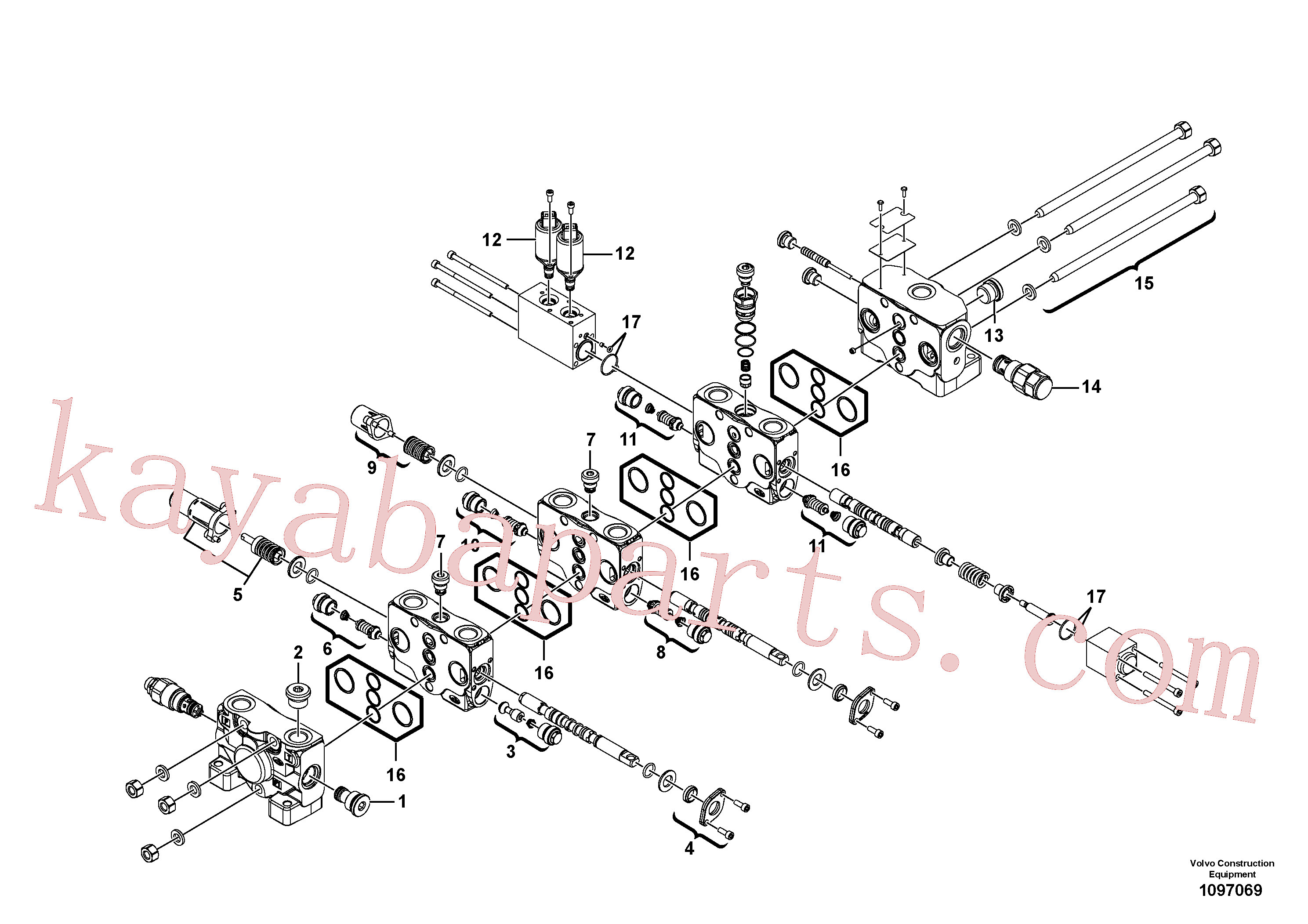 VOE11370785 for Volvo Control valve(1097069 assembly)