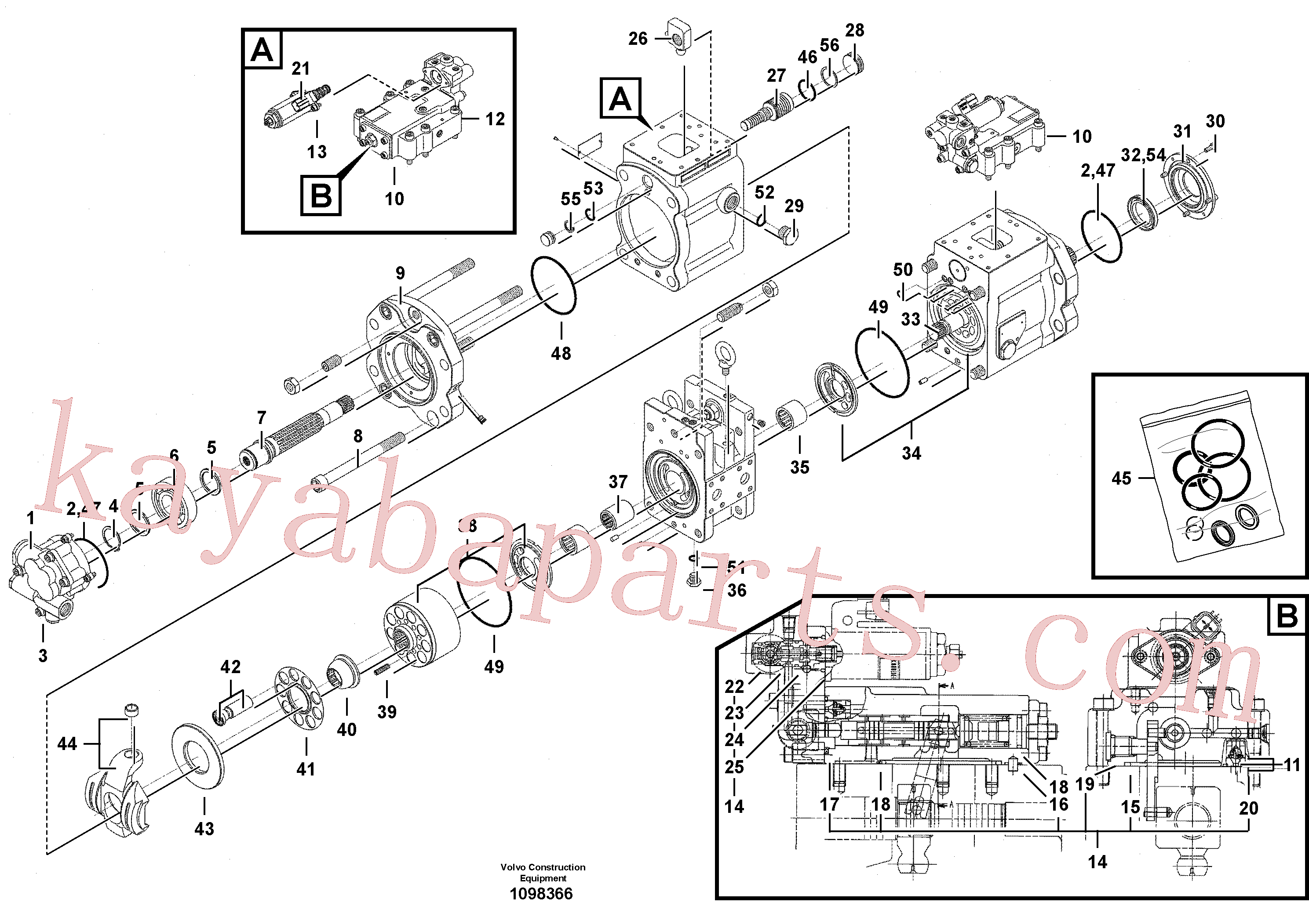VOE14550190 for Volvo Pump installation(1098366 assembly)