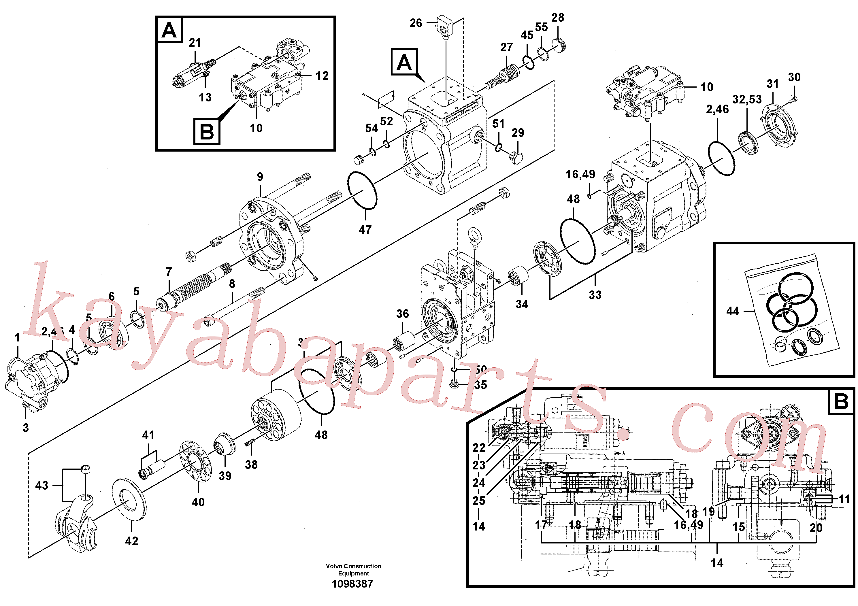 VOE14550190 for Volvo Pump installation(1098387 assembly)