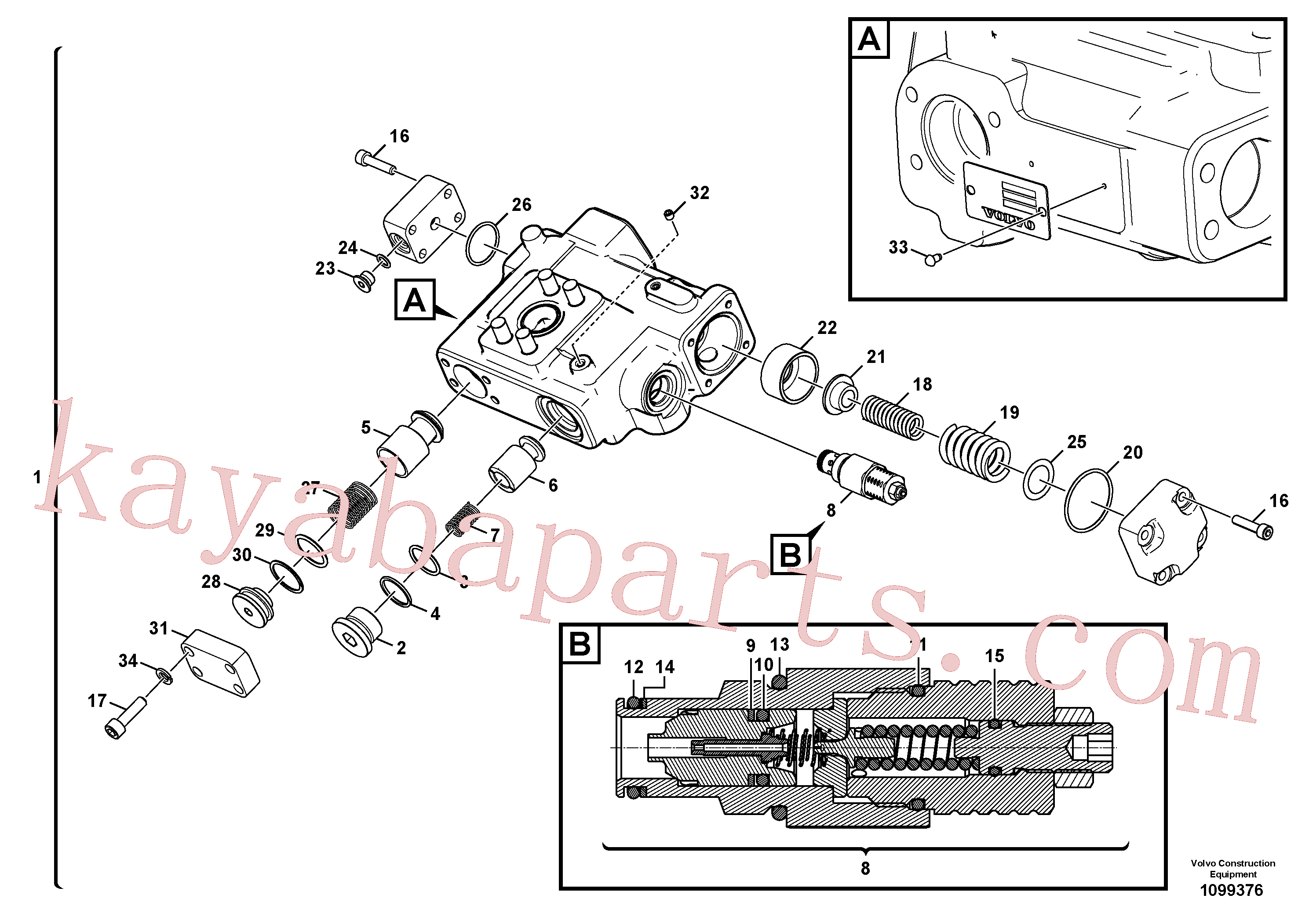 VOE994025 for Volvo Working hydraulic, dipper arm rupture(1099376 assembly)
