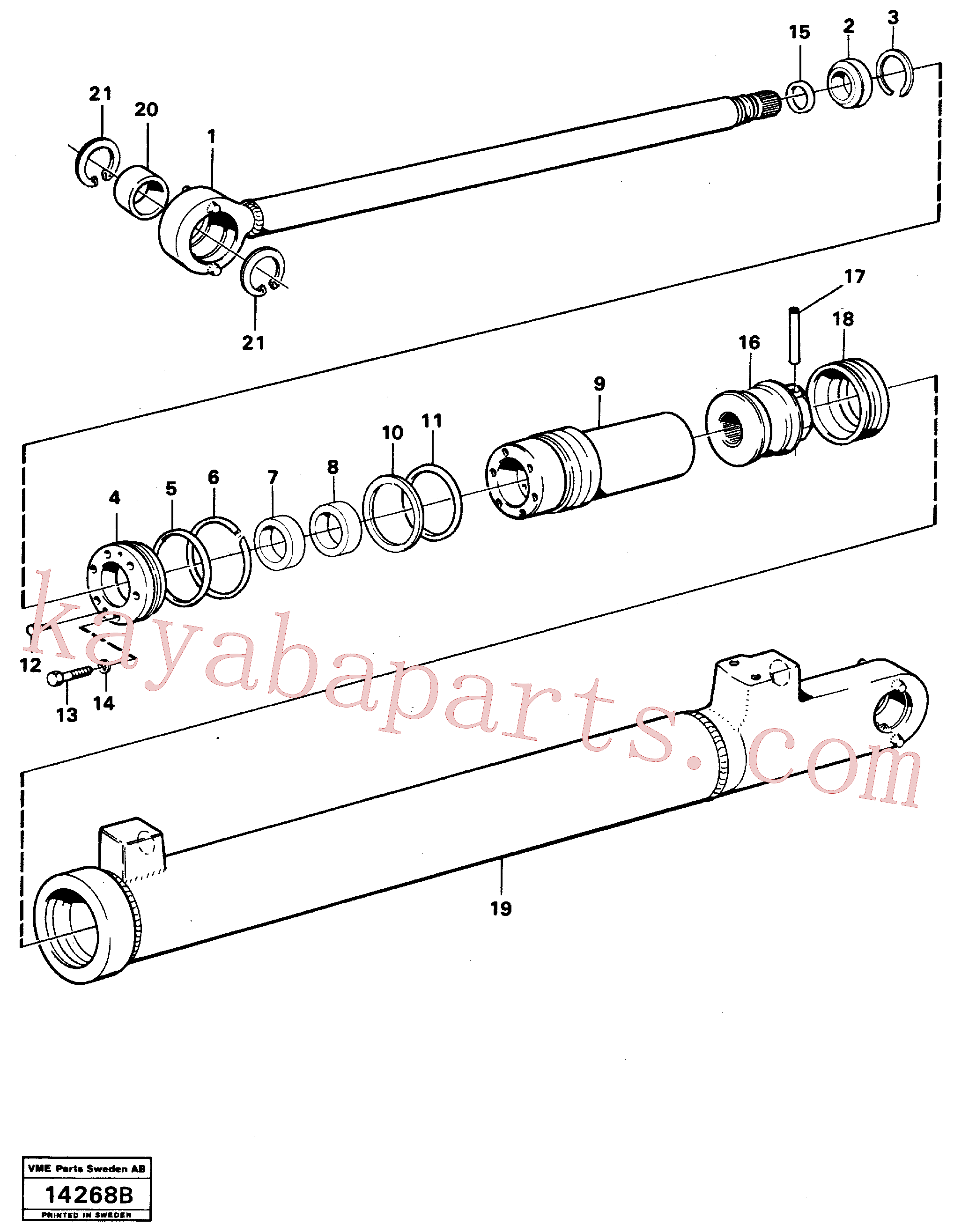 VOE4782718 for Volvo Hydraulic cylinder, lifting.(14268B assembly)