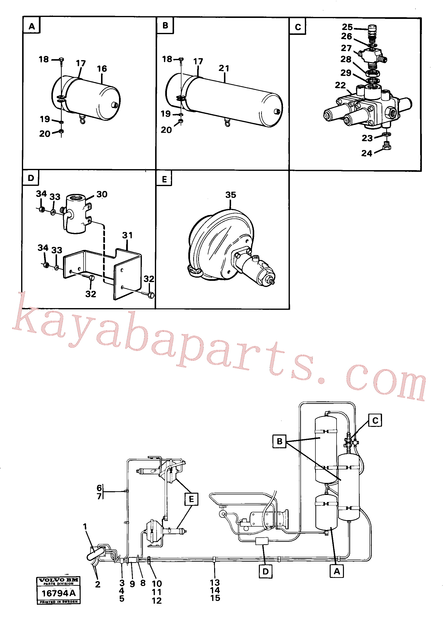 ZM8095001 for Volvo Pneumatic system with componets(16794A assembly)