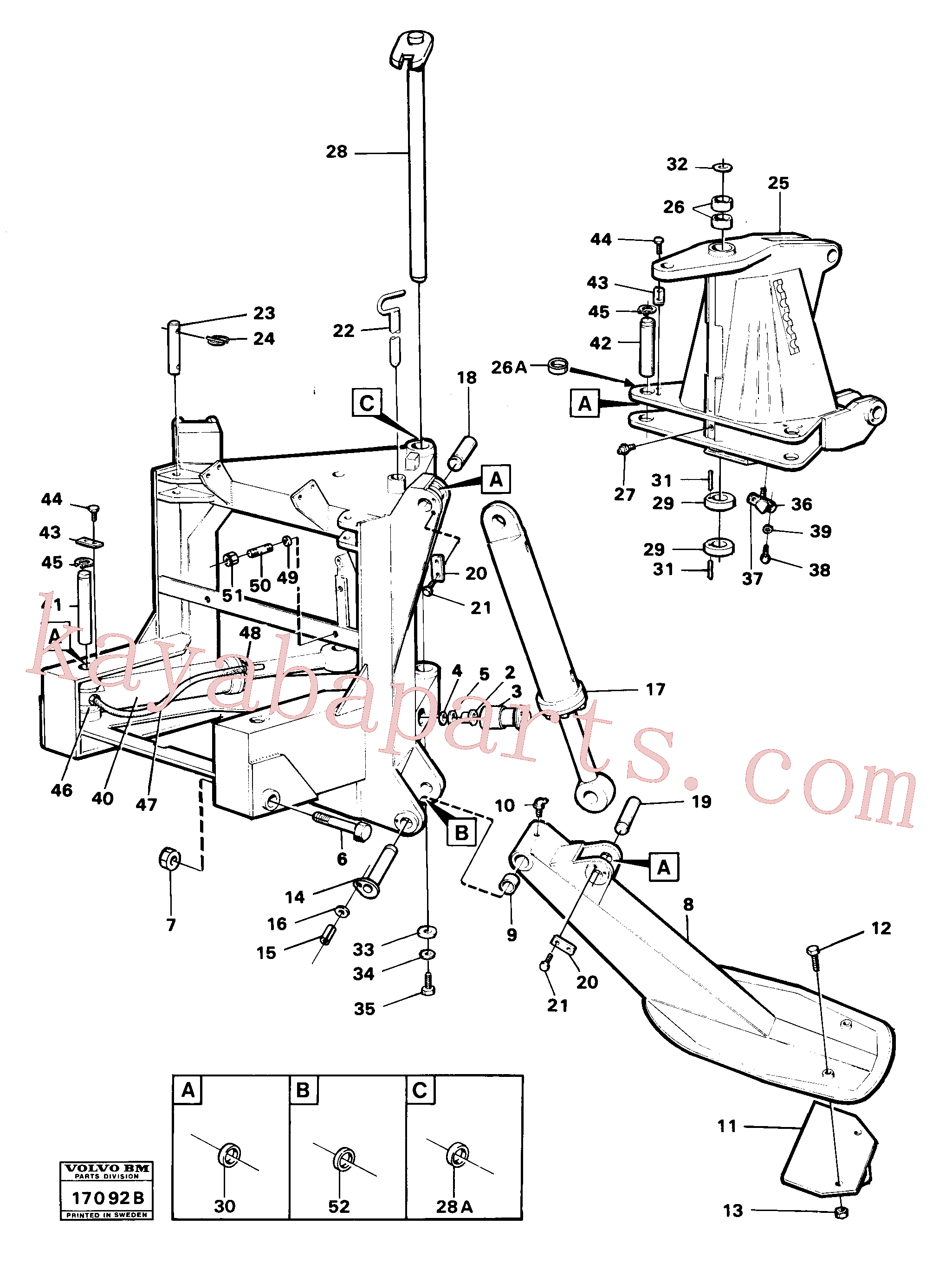 VOE13961172 for Volvo Stand, supporting legs and centre frame(17092B assembly)