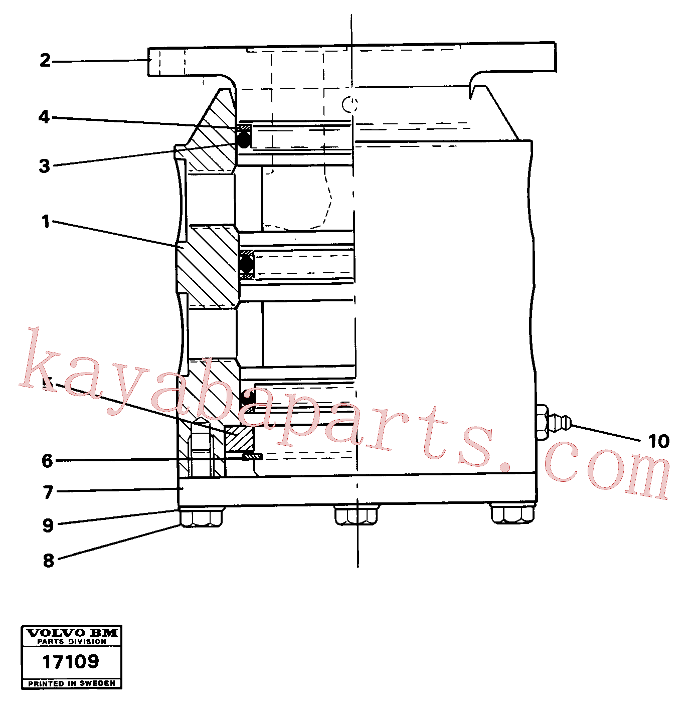 VOE4880596 for Volvo Swivel(17109 assembly)