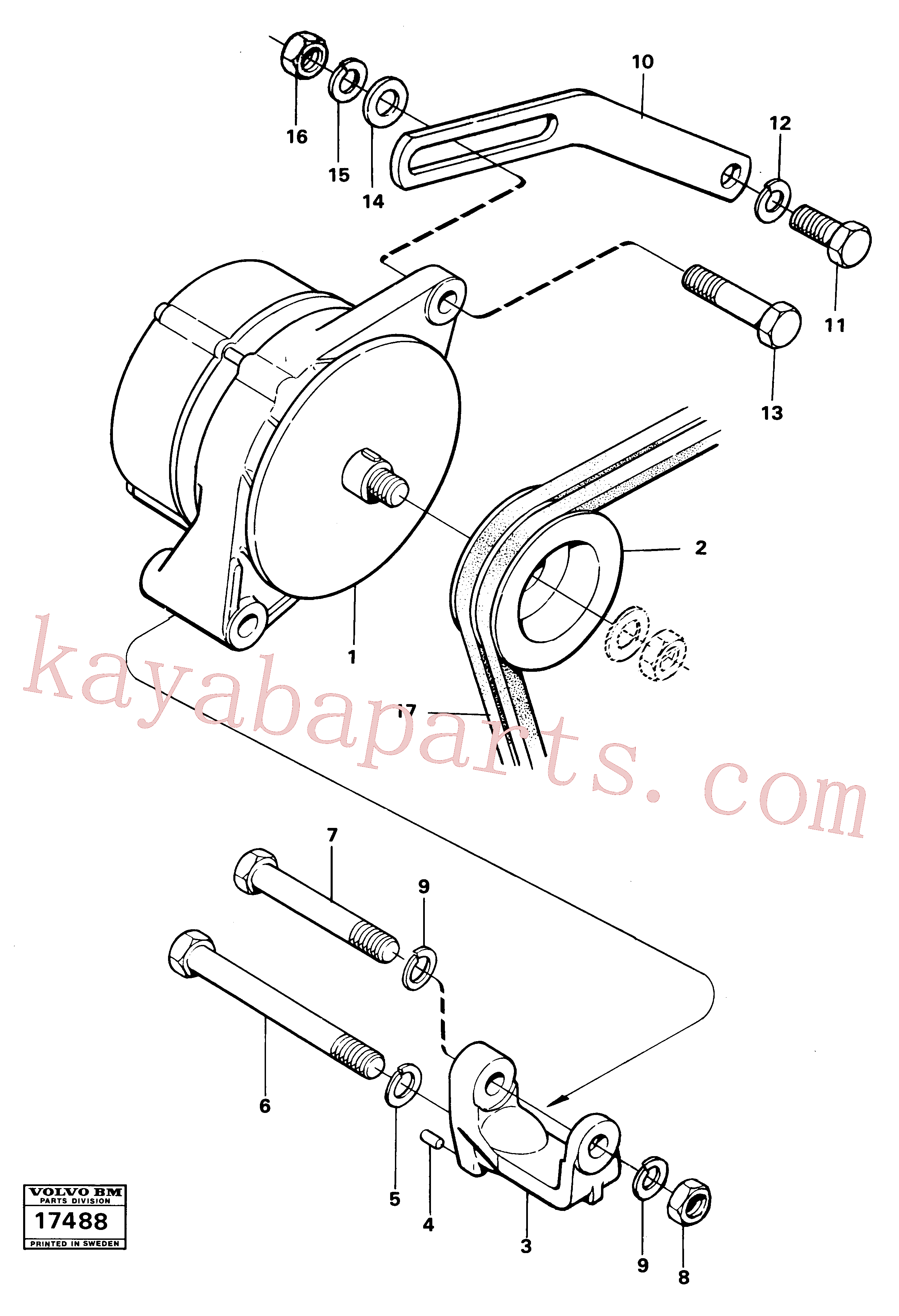 VOE941909 for Volvo Alternator with assembling details(17488 assembly)