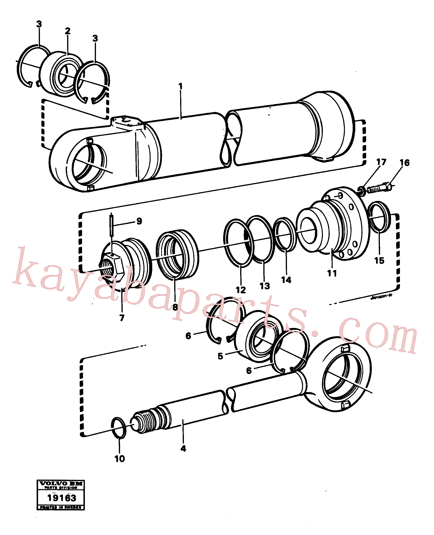 VOE11005193 for Volvo Hydraulic cylinder lifting(19163 assembly)