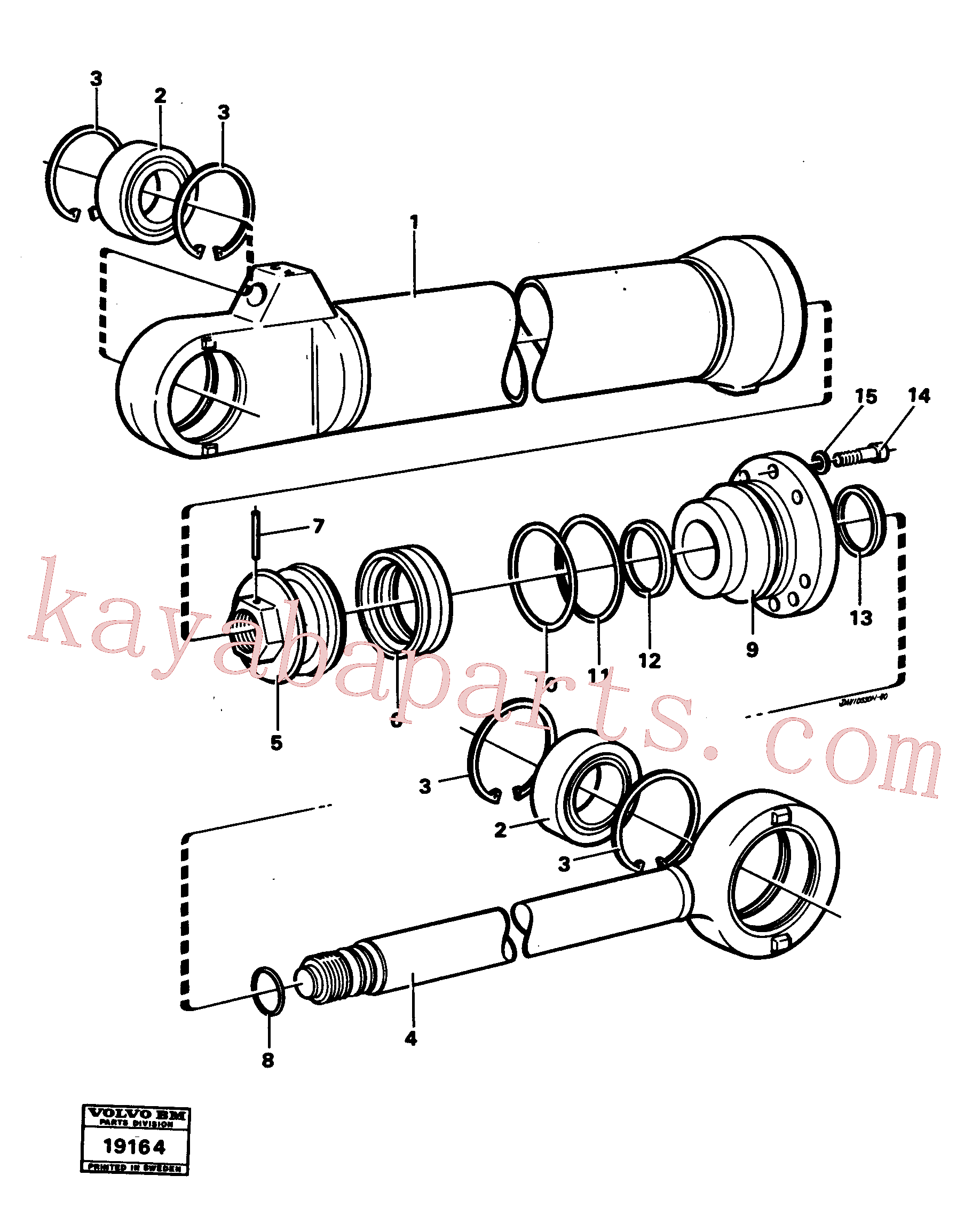 EH6235792 for Volvo Hydraulic cylinder tilting(19164 assembly)