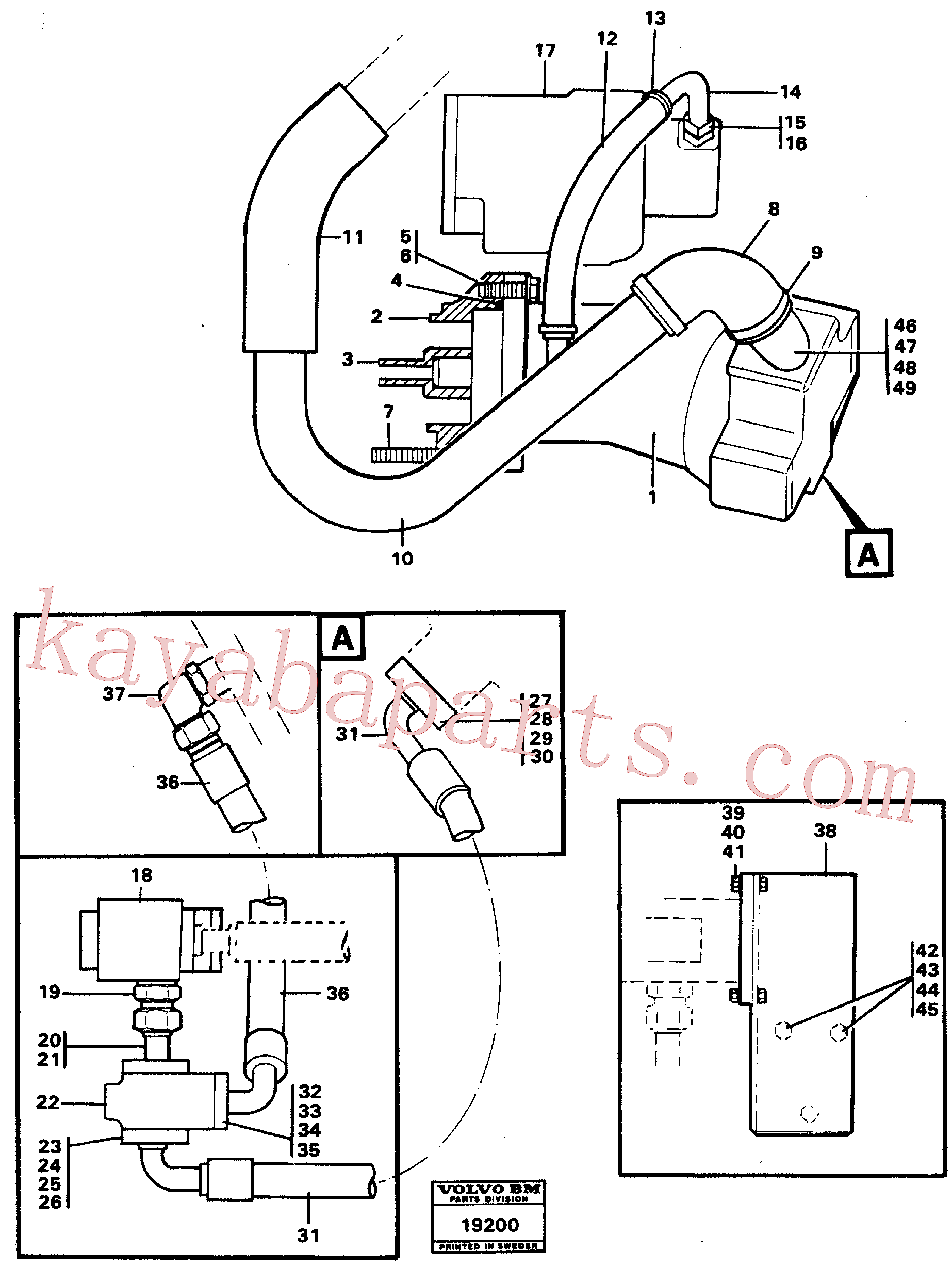 VOE955343 for Volvo Hydraulic system, rear 5:th, 6:th function.(19200 assembly)