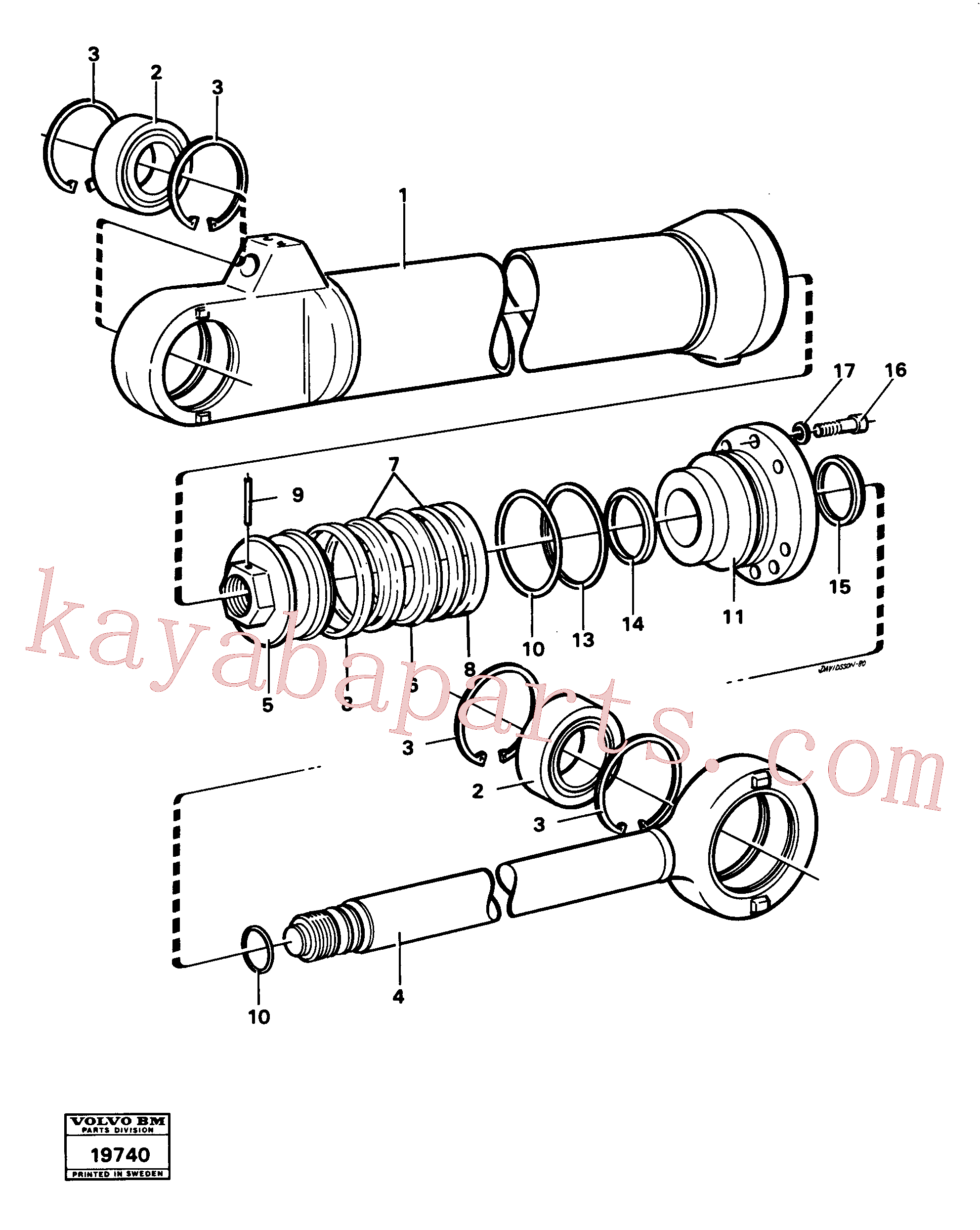 VOE4782718 for Volvo Hydraulic cylinder tilting(19740 assembly)