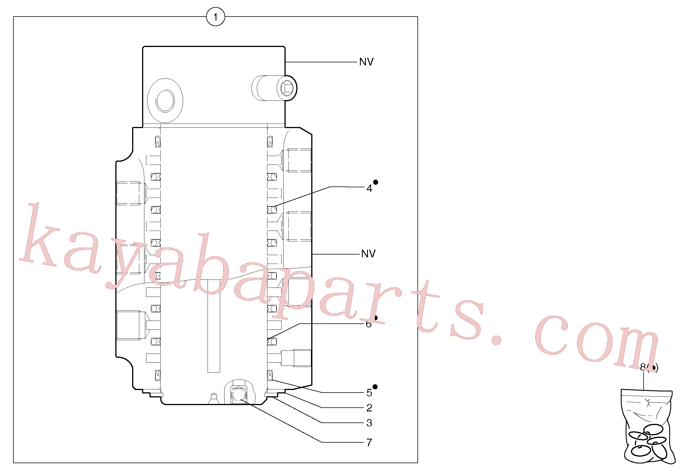 PJ7418485 for Volvo Swivel joint(443FZ3 assembly)
