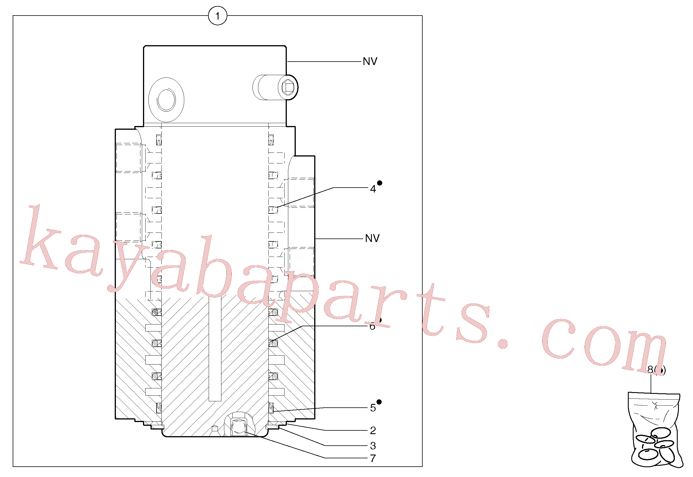 PJ7418485 for Volvo Swivel joint(443GZ1 assembly)