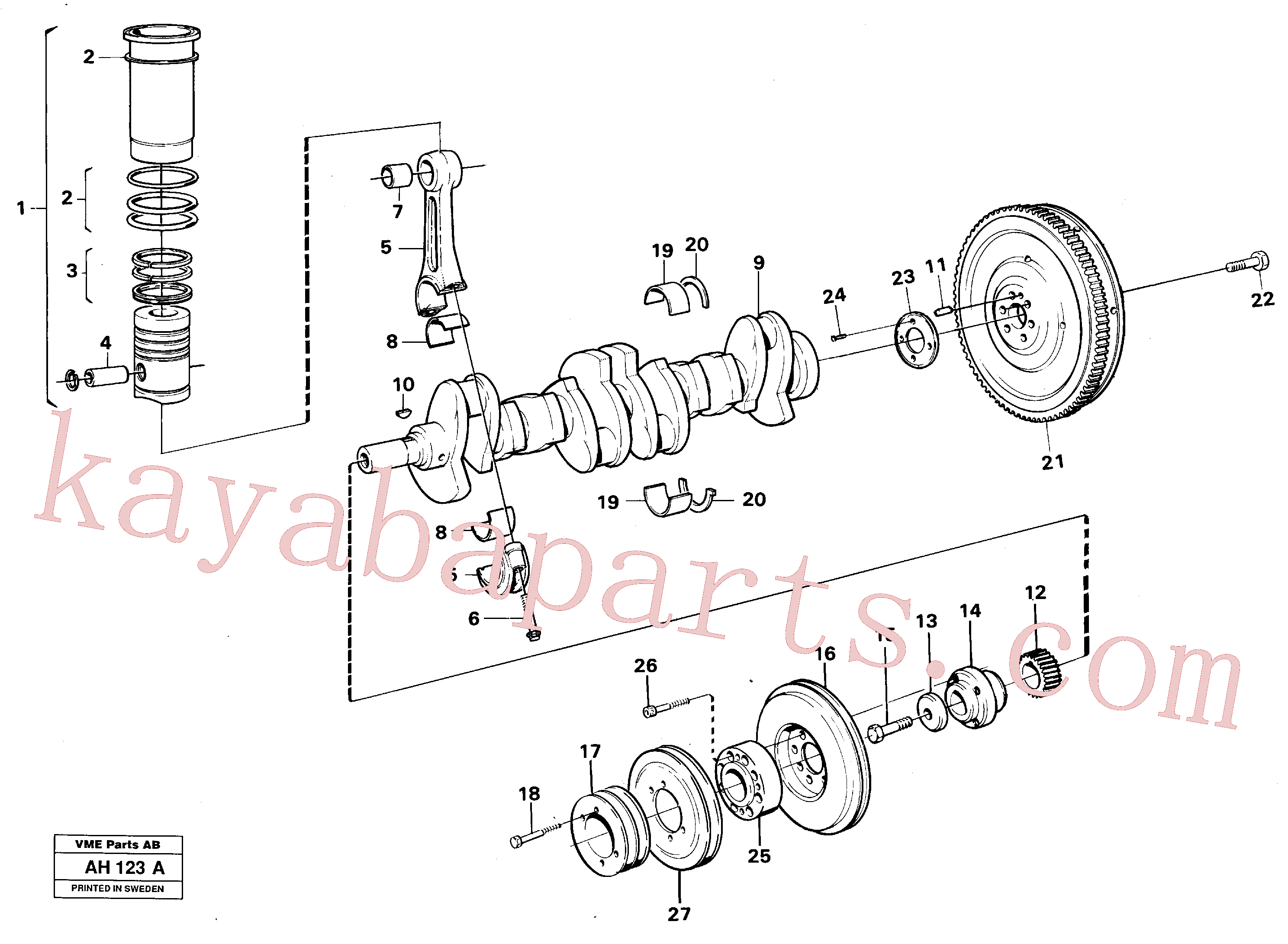 SA9324-21617 for Volvo Crankshaft and related parts(AH123A assembly)