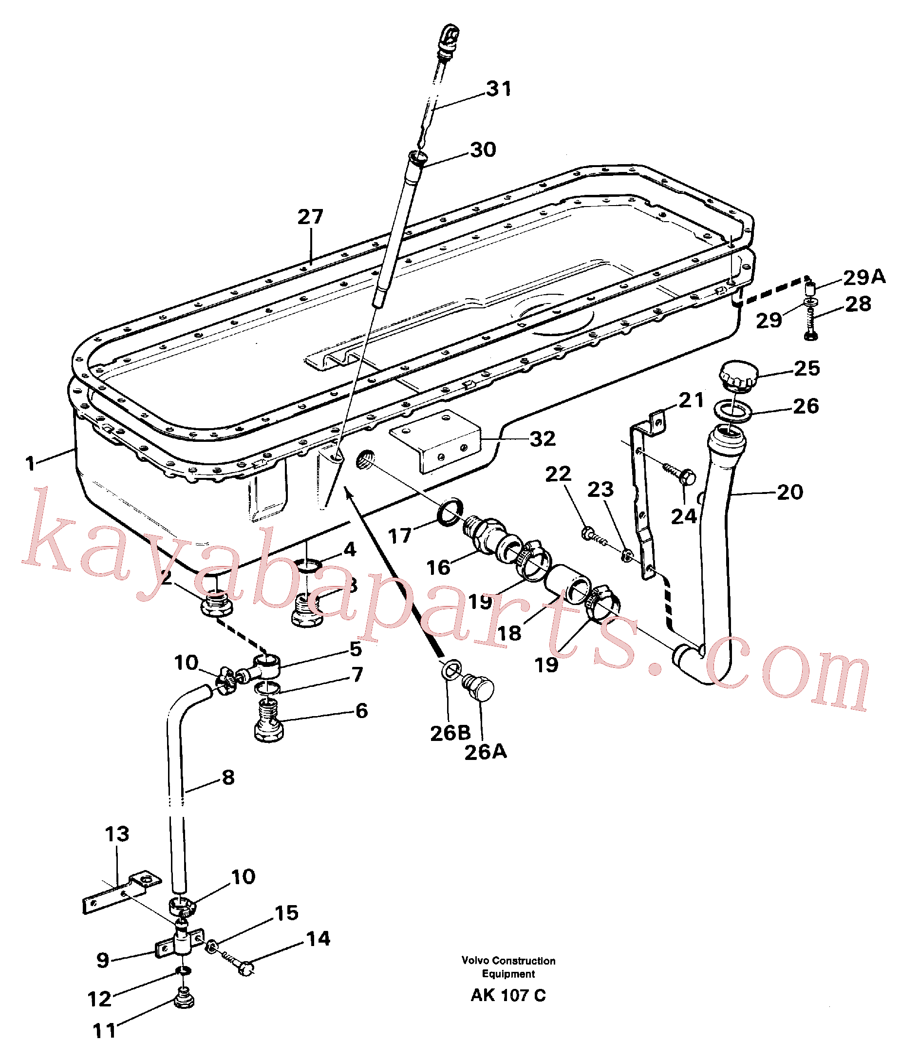 VOE13955527 for Volvo Oil sump(AK107C assembly)