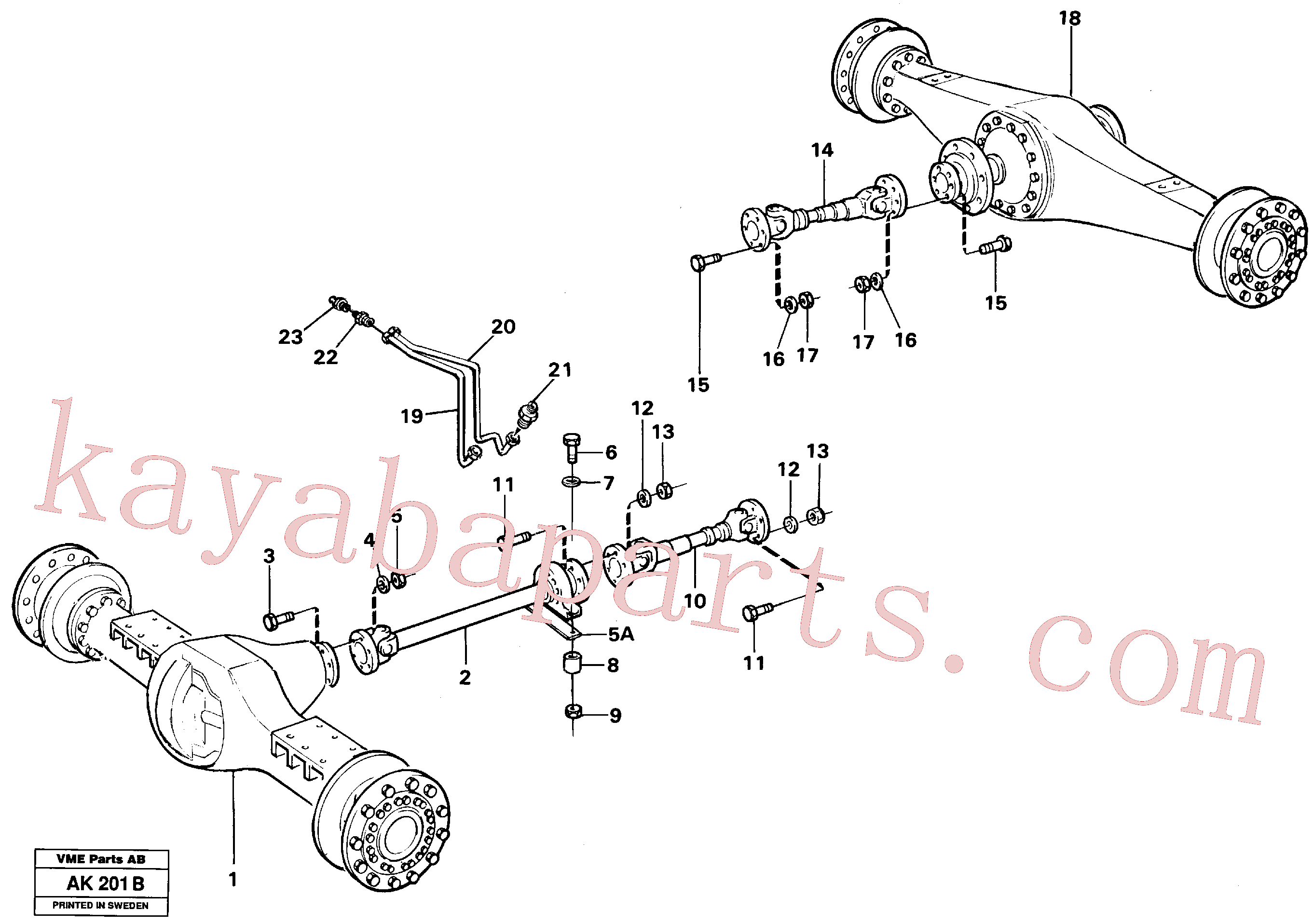 VOE11026356 for Volvo Propeller shafts with fitting parts(AK201B assembly)