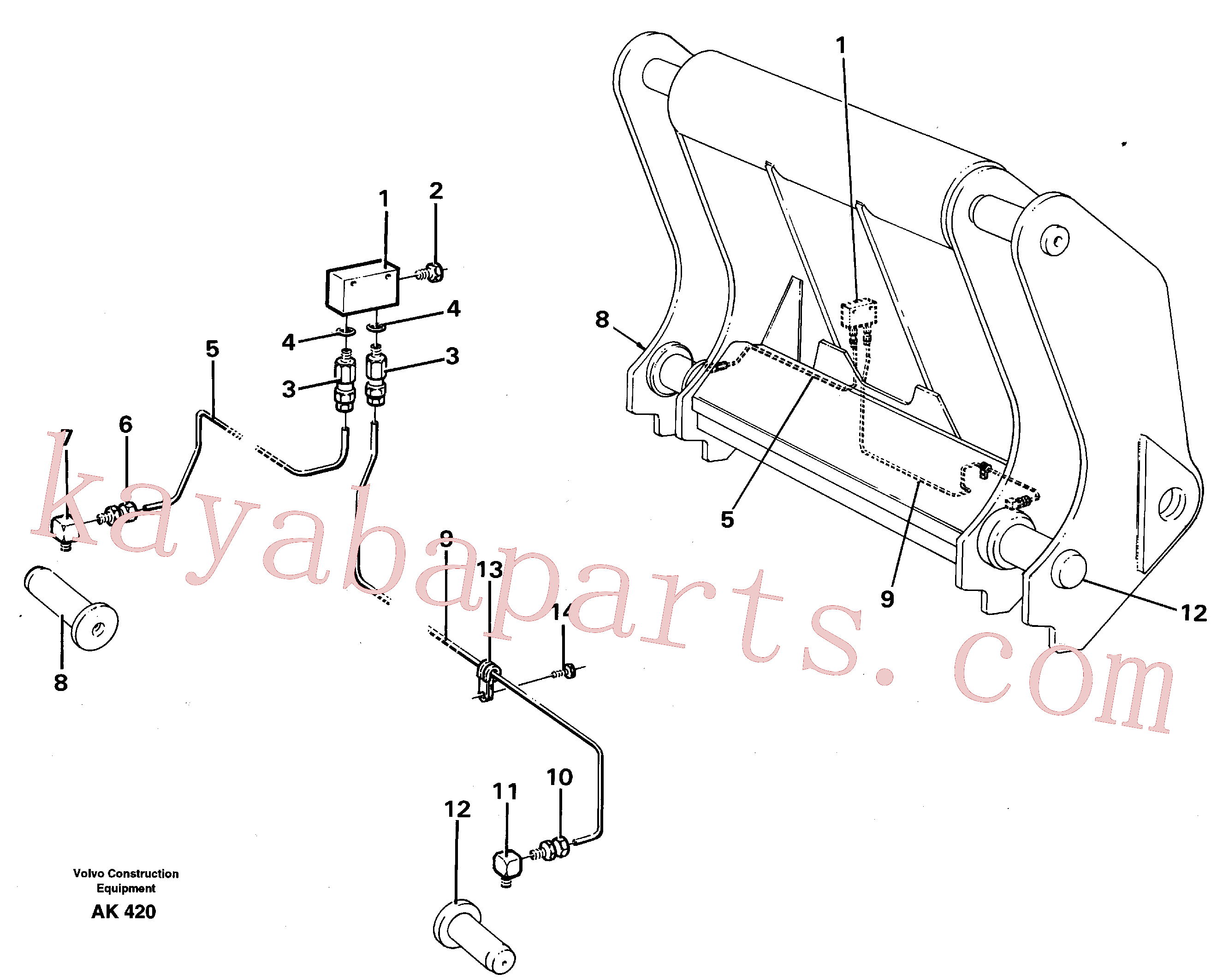 VOE13948745 for Volvo Distribution block, G.(AK420 assembly)