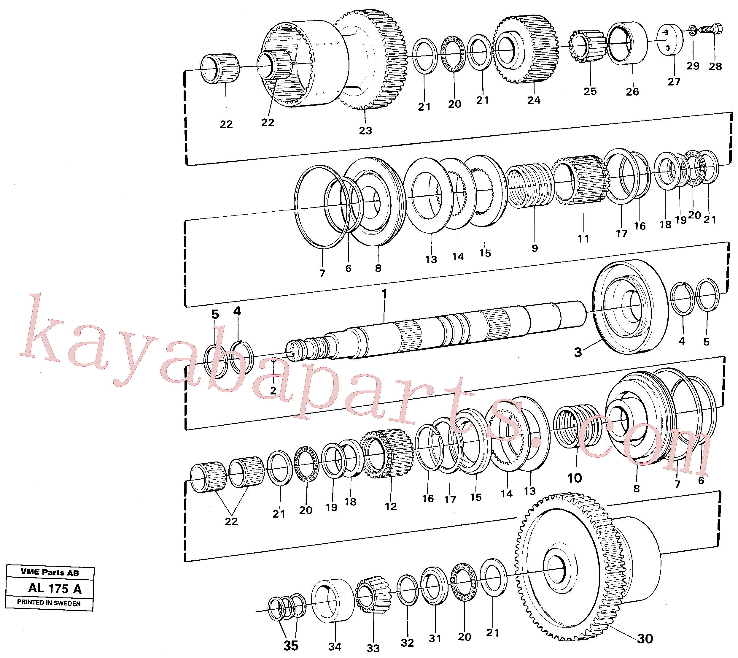 VOE11036630 for Volvo Hydraulic clutch 1:st and 2:nd speeds(AL175A assembly)