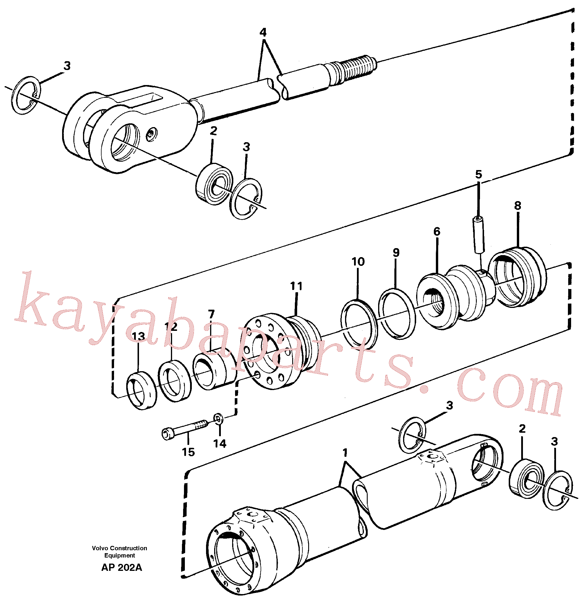 EH6235792 for Volvo Hydraulic cylinder(AP202A assembly)