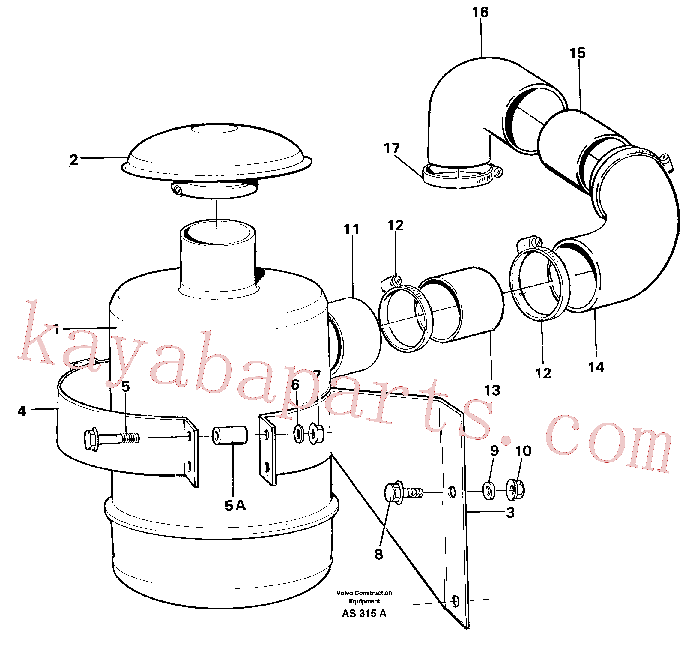 VOE13965181 for Volvo Oil bath filter(AS315A assembly)