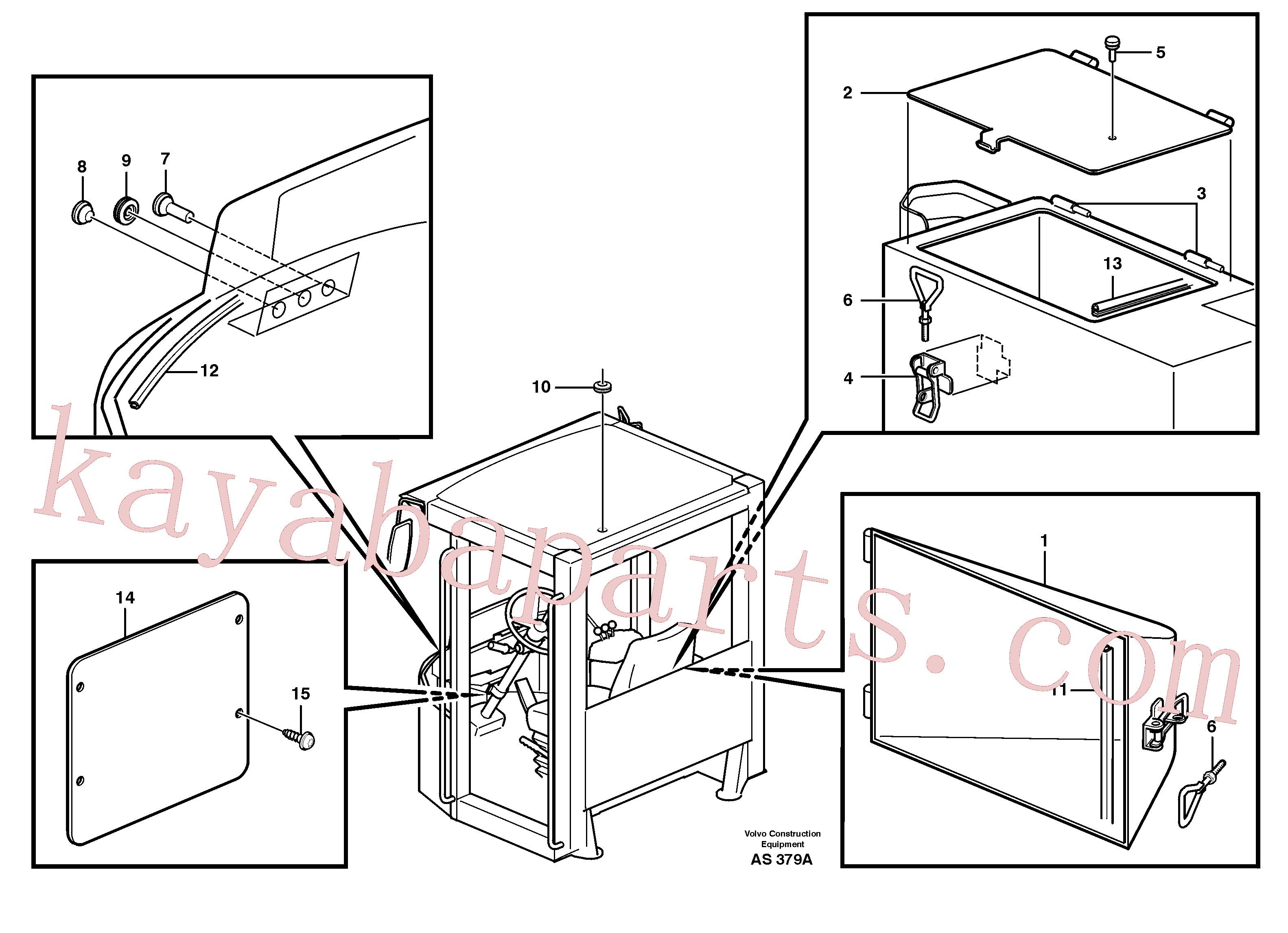 VOE13974682 for Volvo Hatches(AS379A assembly)