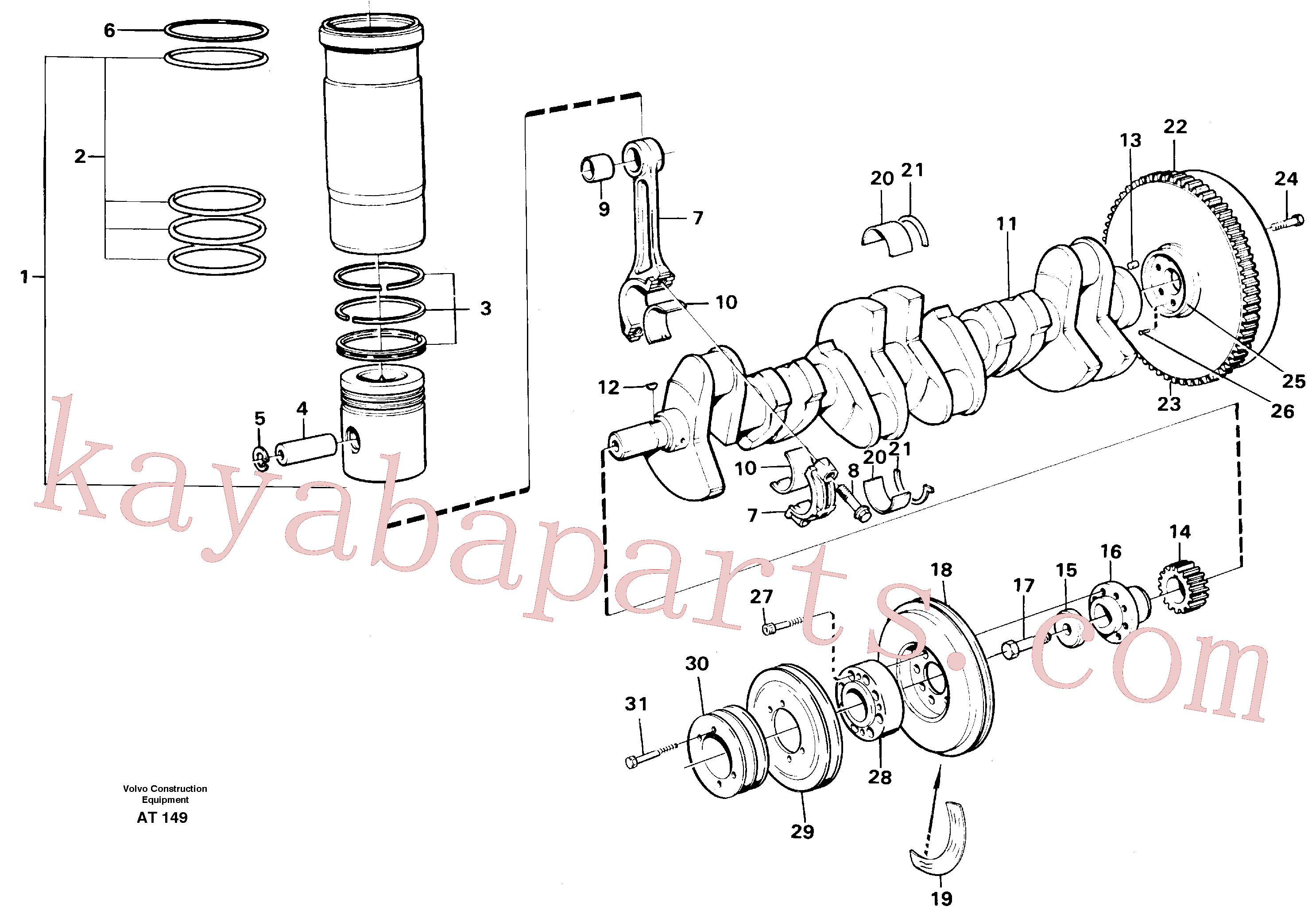 SA9324-21617 for Volvo Crankshaft and related parts(AT149 assembly)
