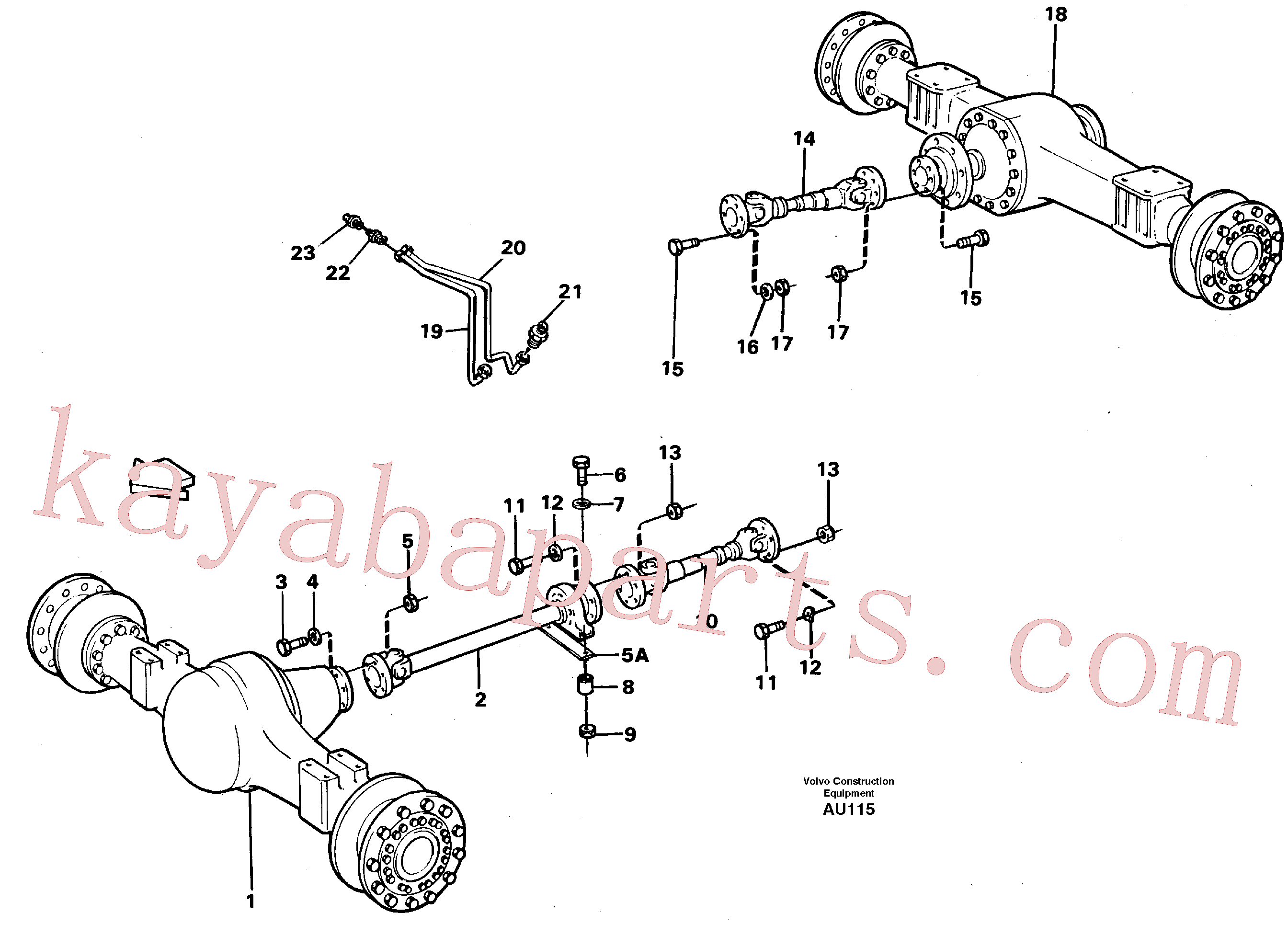 VOE11026356 for Volvo Propeller shafts with fitting parts(AU115 assembly)