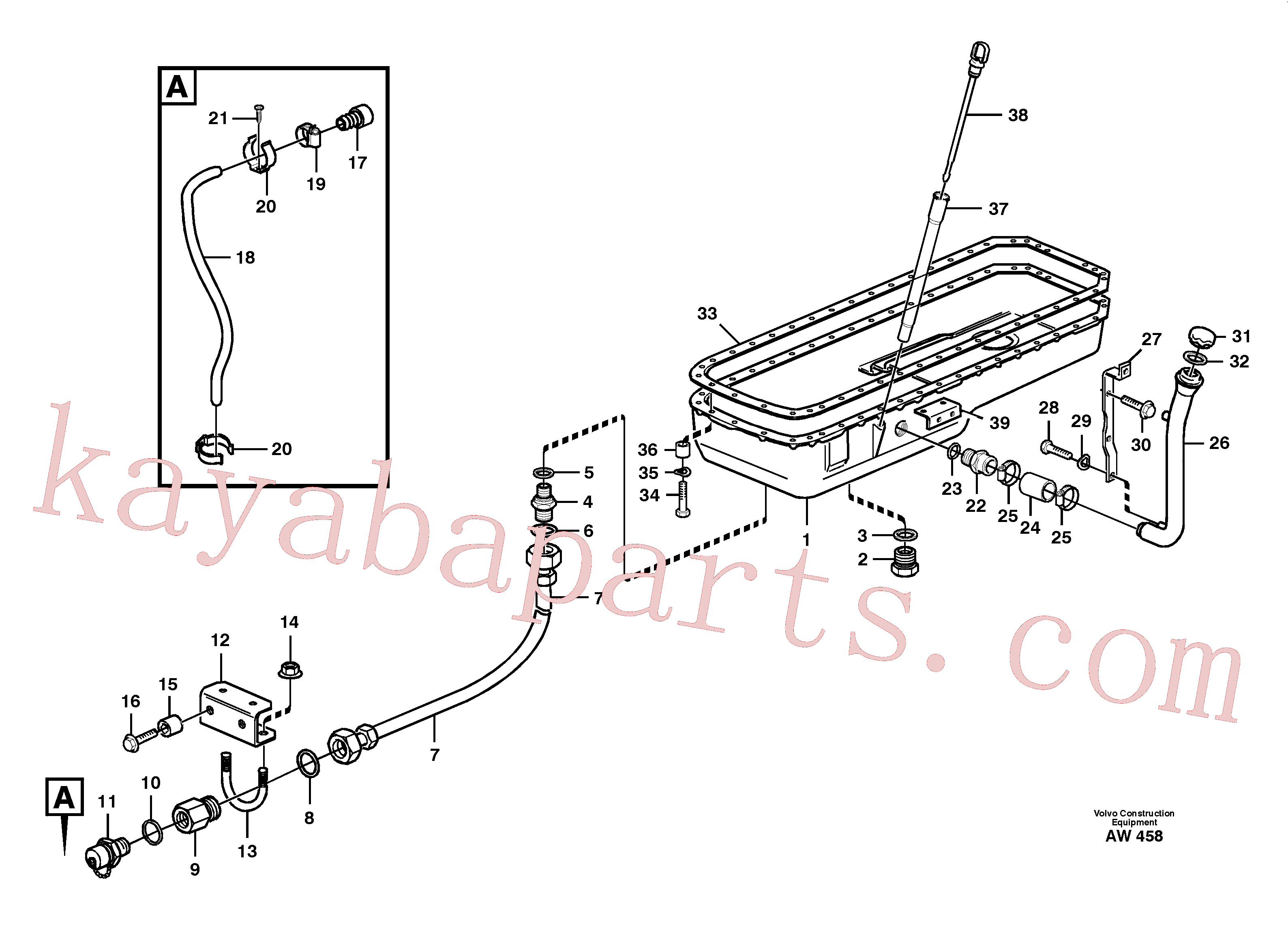 VOE13955527 for Volvo Oil sump(AW458 assembly)