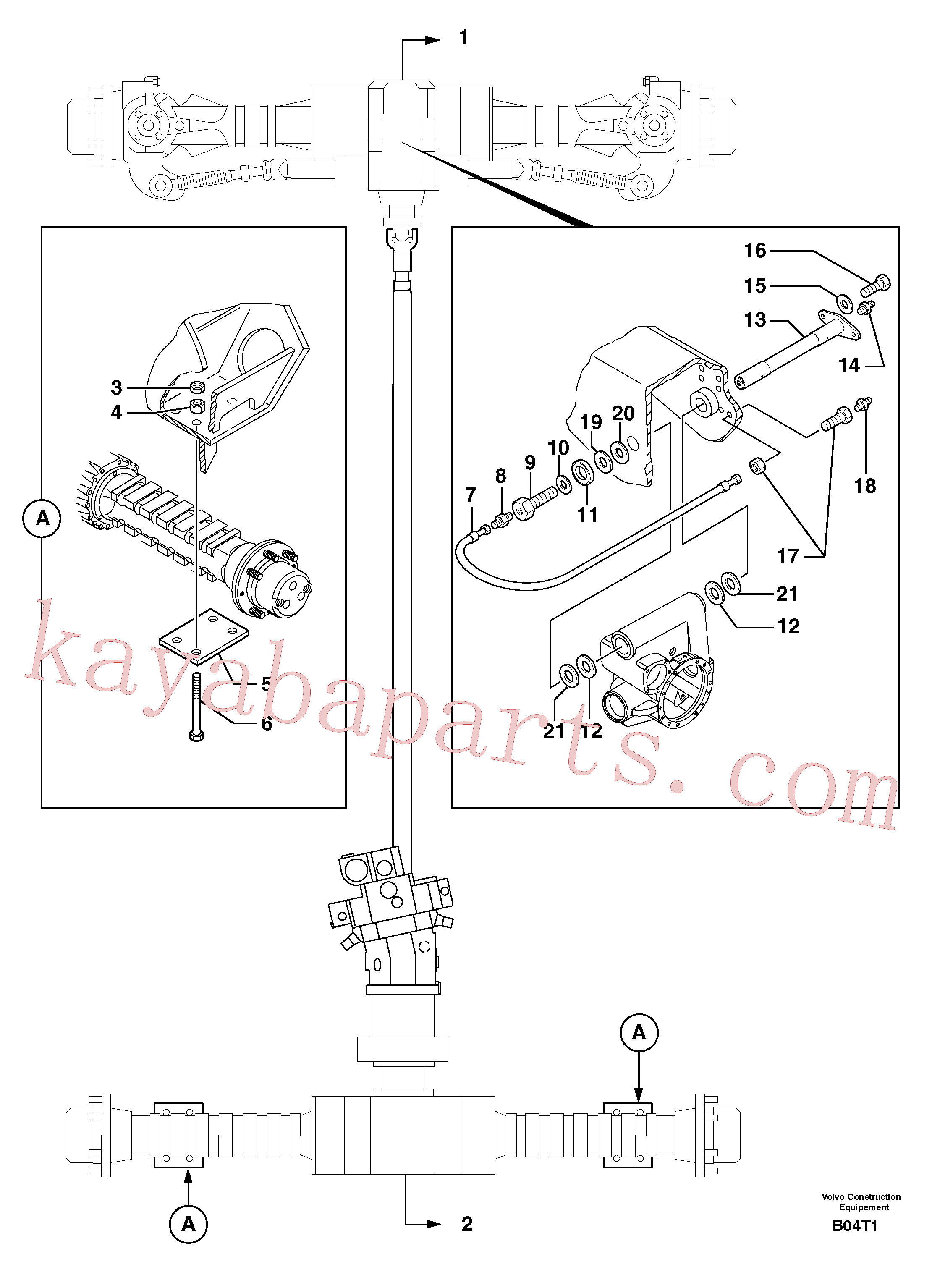 PJ4090348 for Volvo Axle cradles and mountings(B04T1 assembly)