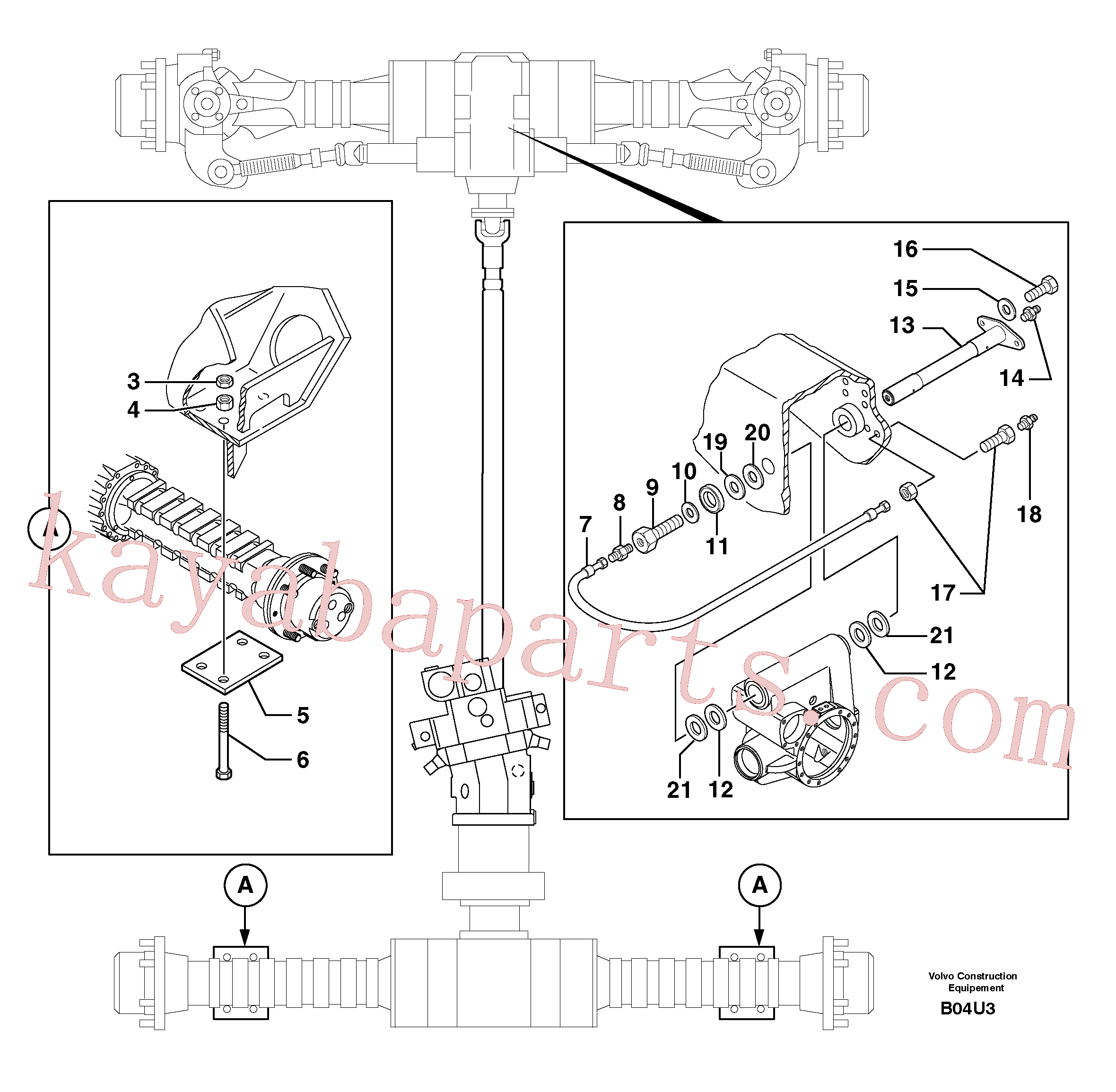 PJ4090348 for Volvo Axle cradles and mountings(B04U3 assembly)