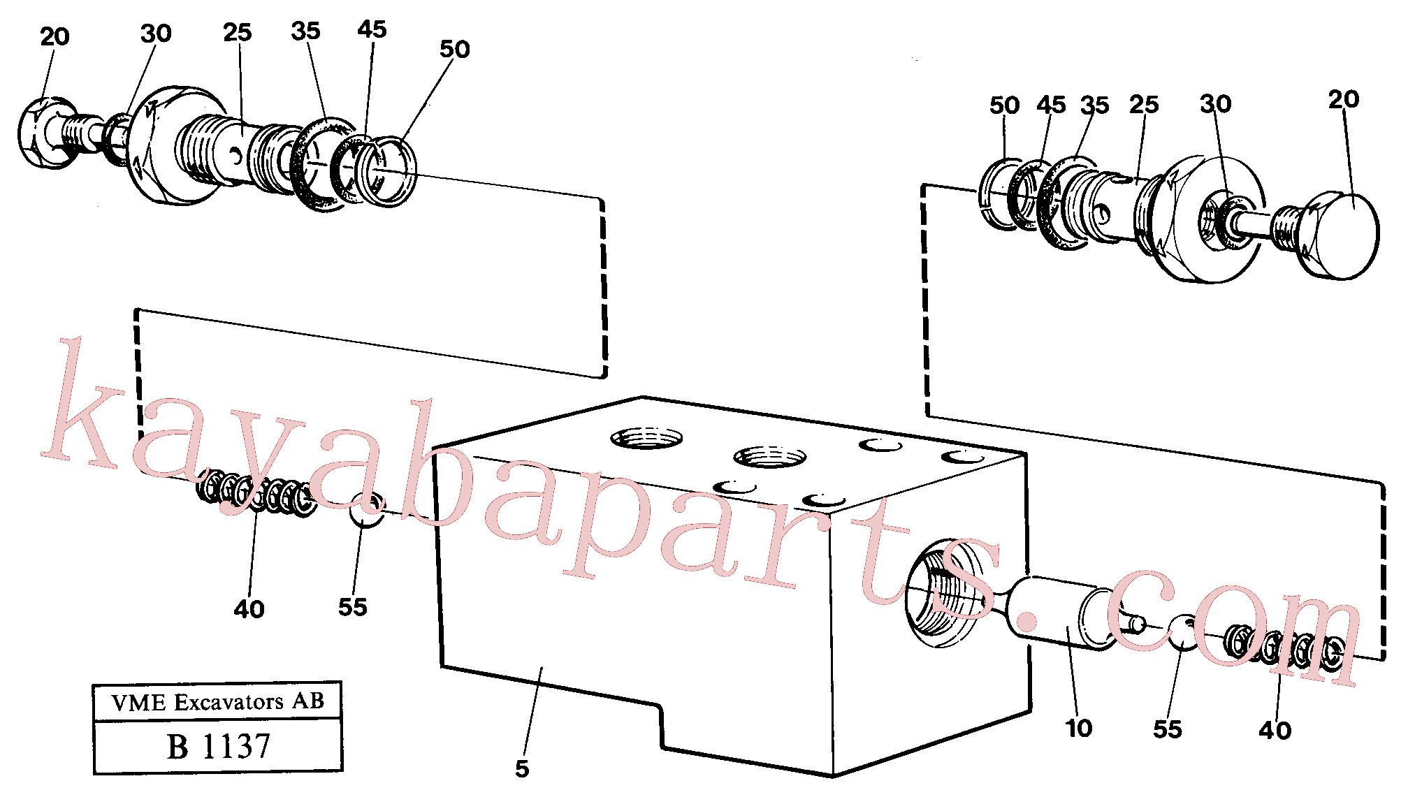 VOE14233681 for Volvo Hydraulic lock outrigger(B1137 assembly)