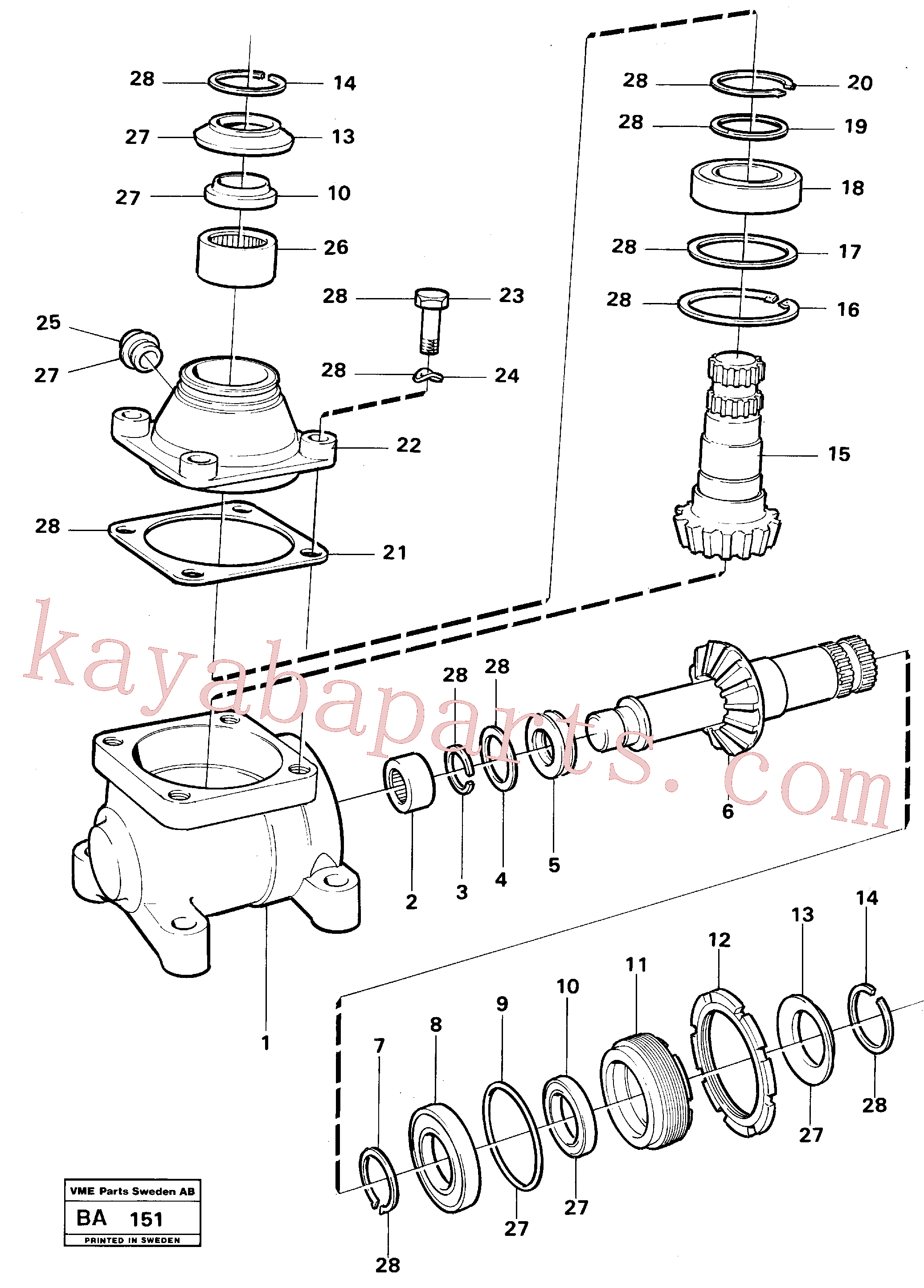 VOE13970950 for Volvo Angle gear(BA151 assembly)