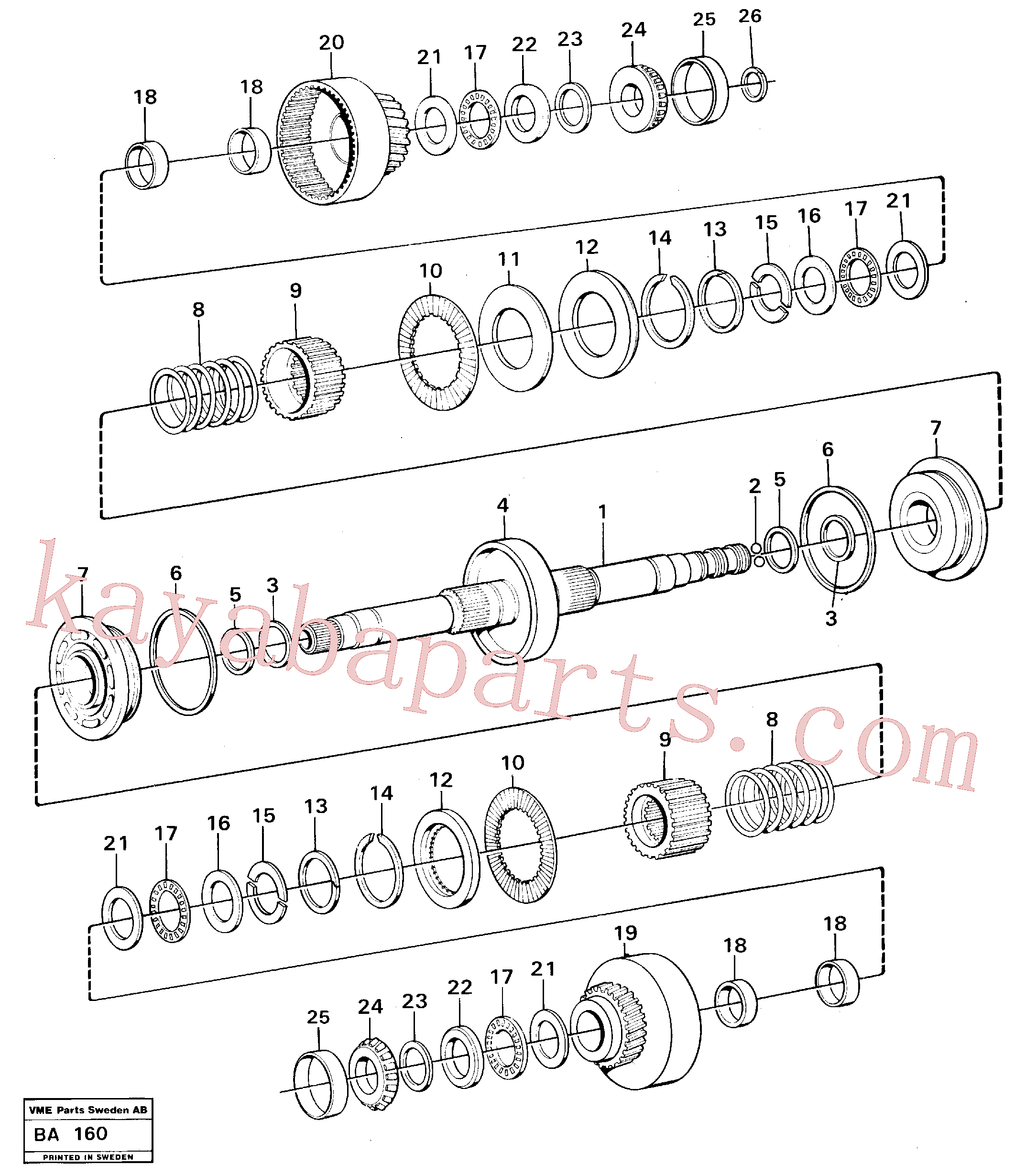 VOE184645 for Volvo Clutches forward and reverse(BA160 assembly)