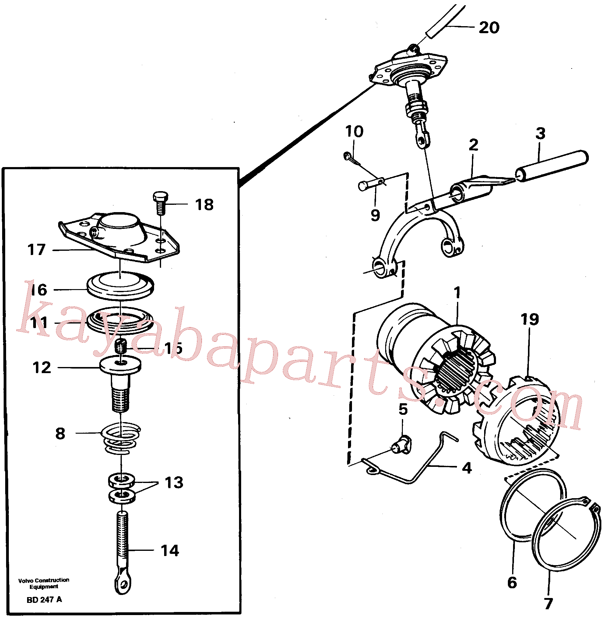 ZM8095001 for Volvo Differential lock(BD247A assembly)