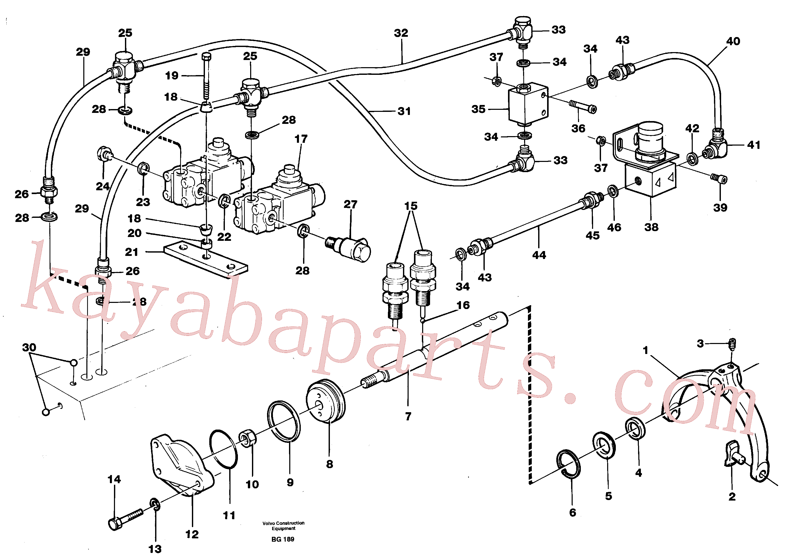 VOE8158342 for Volvo Control for high and low gear(BG189 assembly)
