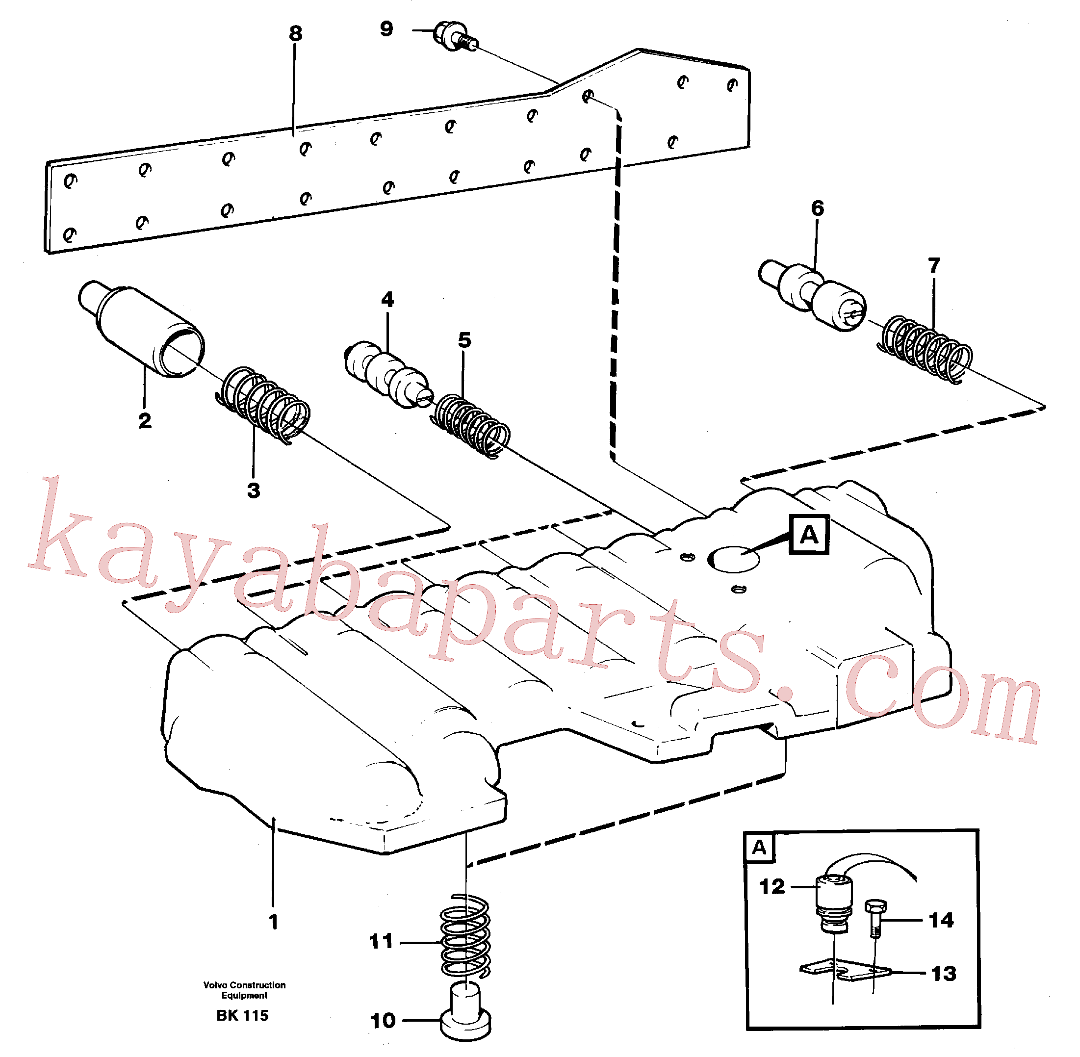 VOE969831 for Volvo Modulated valve(BK115 assembly)
