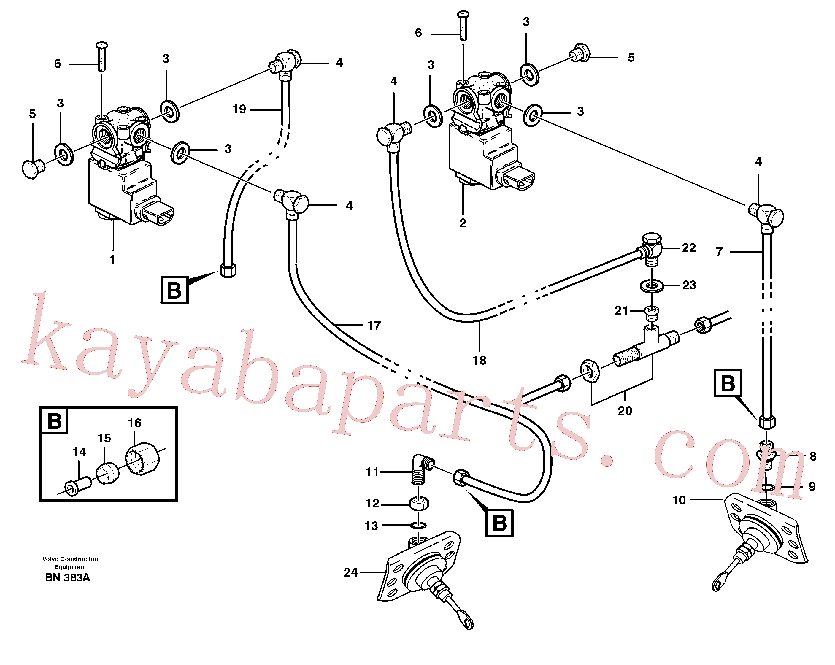 ZM7099538 for Volvo Pneumatic system, diff lock, cab(BN383A assembly)