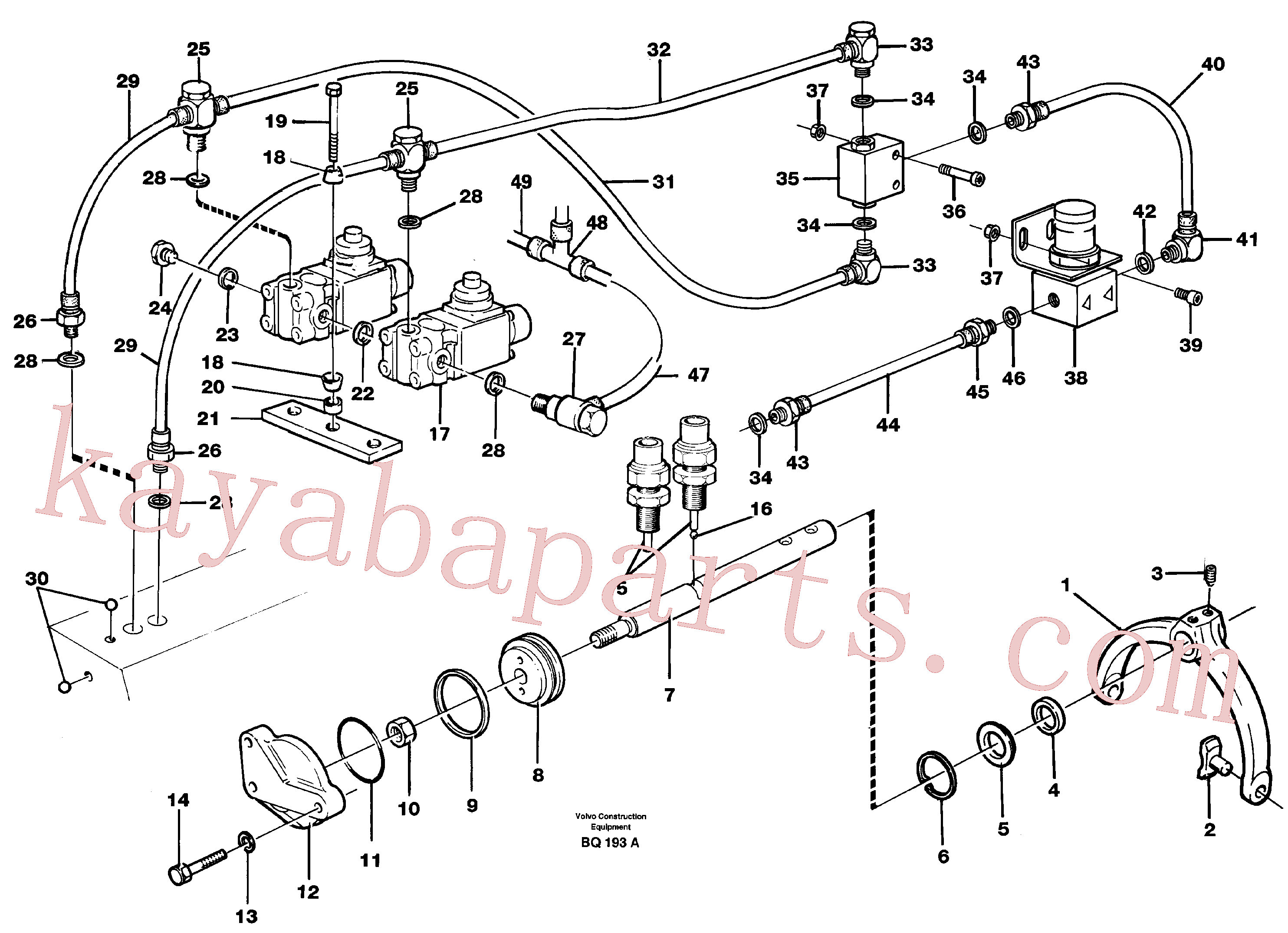 VOE8158342 for Volvo Control for high and low gear(BQ193A assembly)