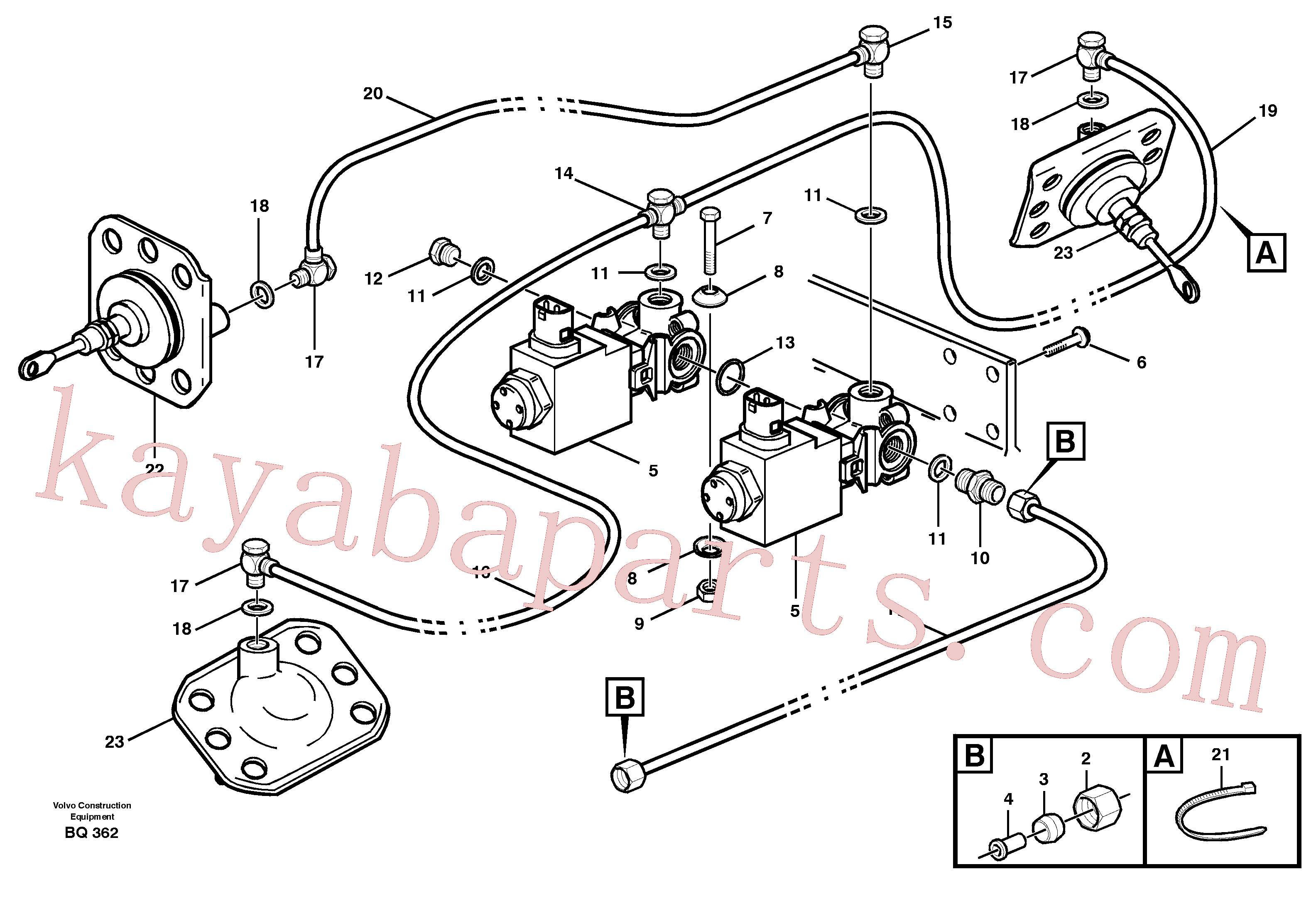 VOE8158342 for Volvo Pneumatic system, 6x6 and diff lock, load unit(BQ362 assembly)