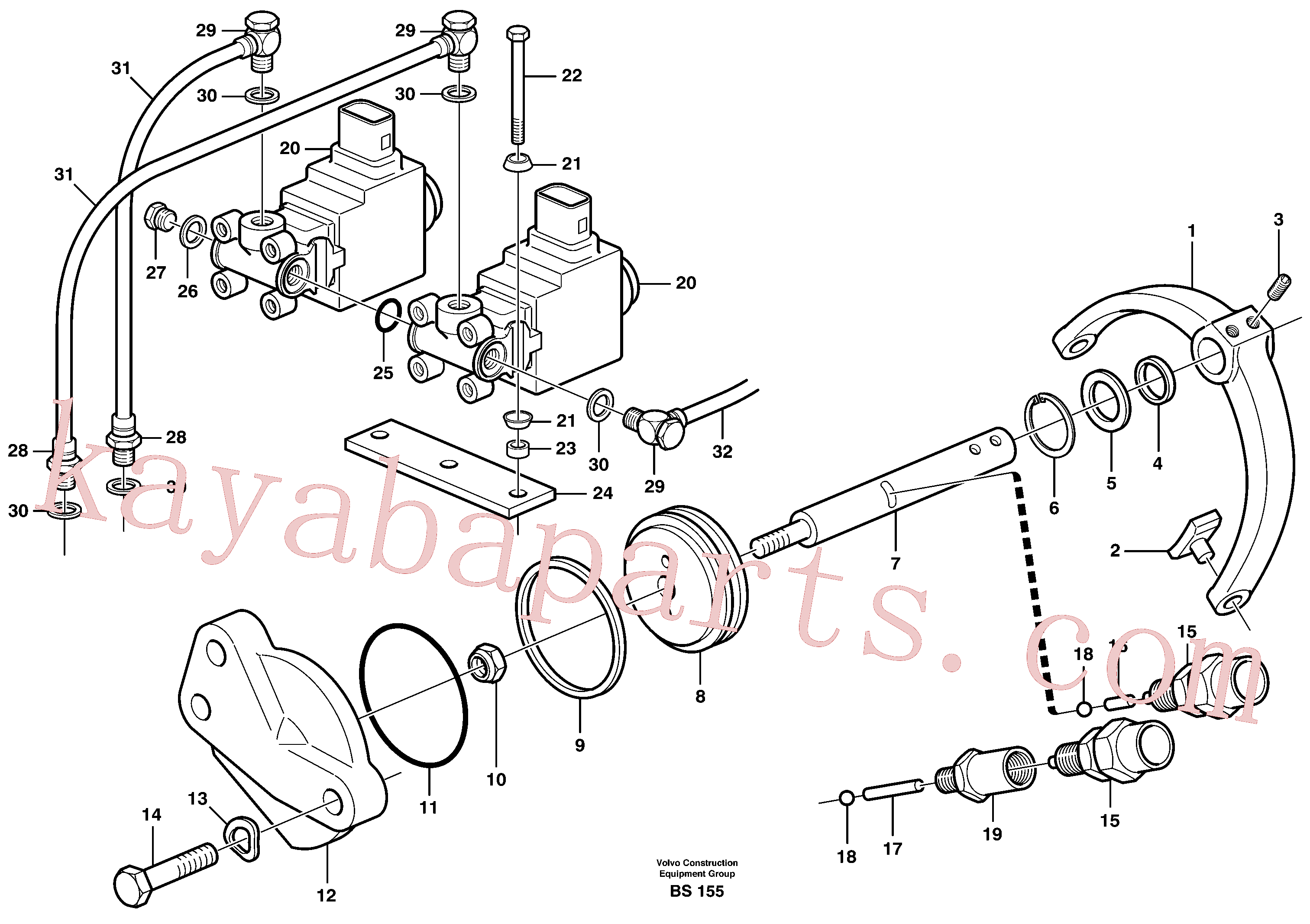 ZM7099538 for Volvo Control for high and low gear(BS155 assembly)