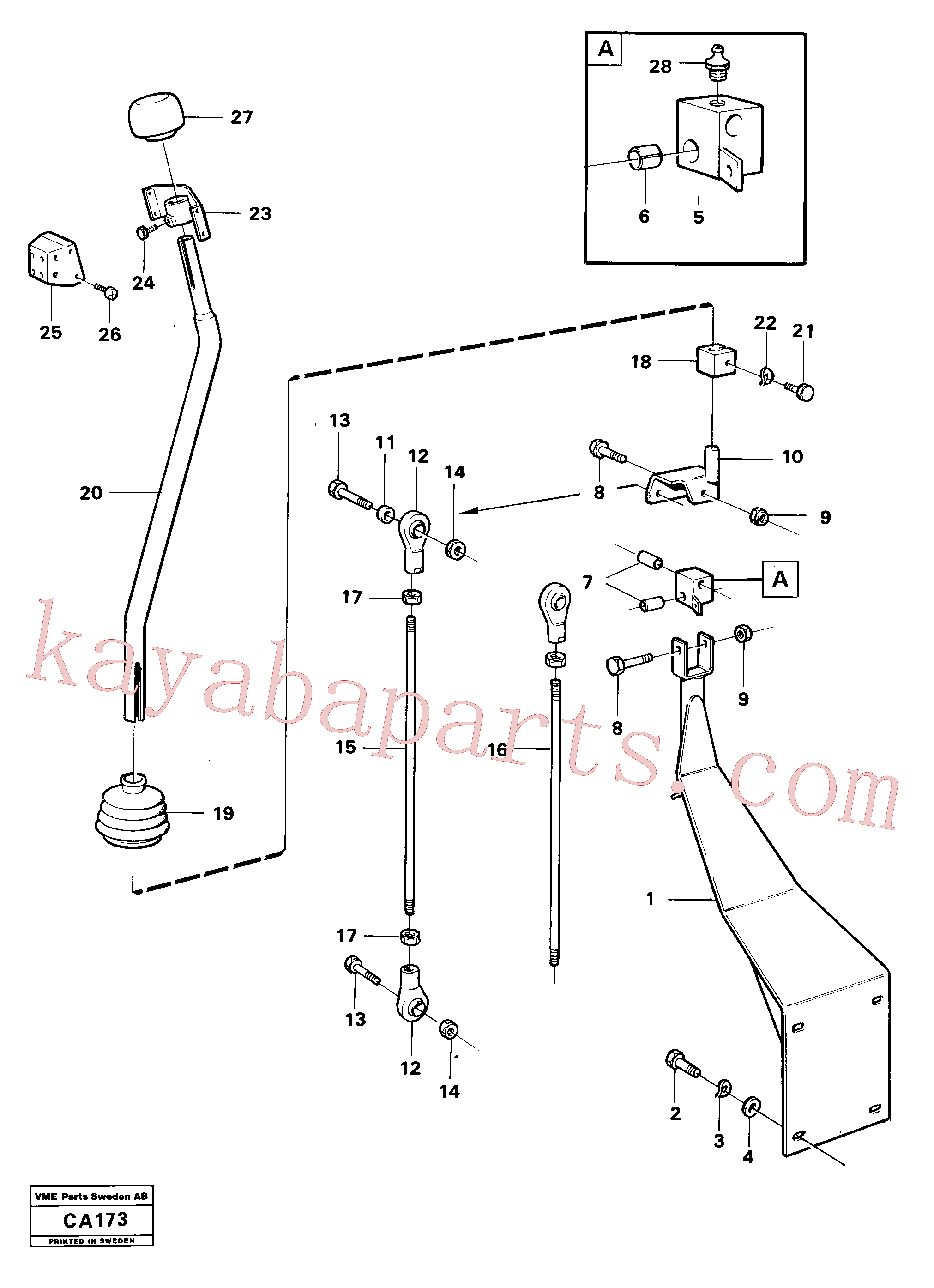 VOE4953723 for Volvo Loader controls(CA173 assembly)