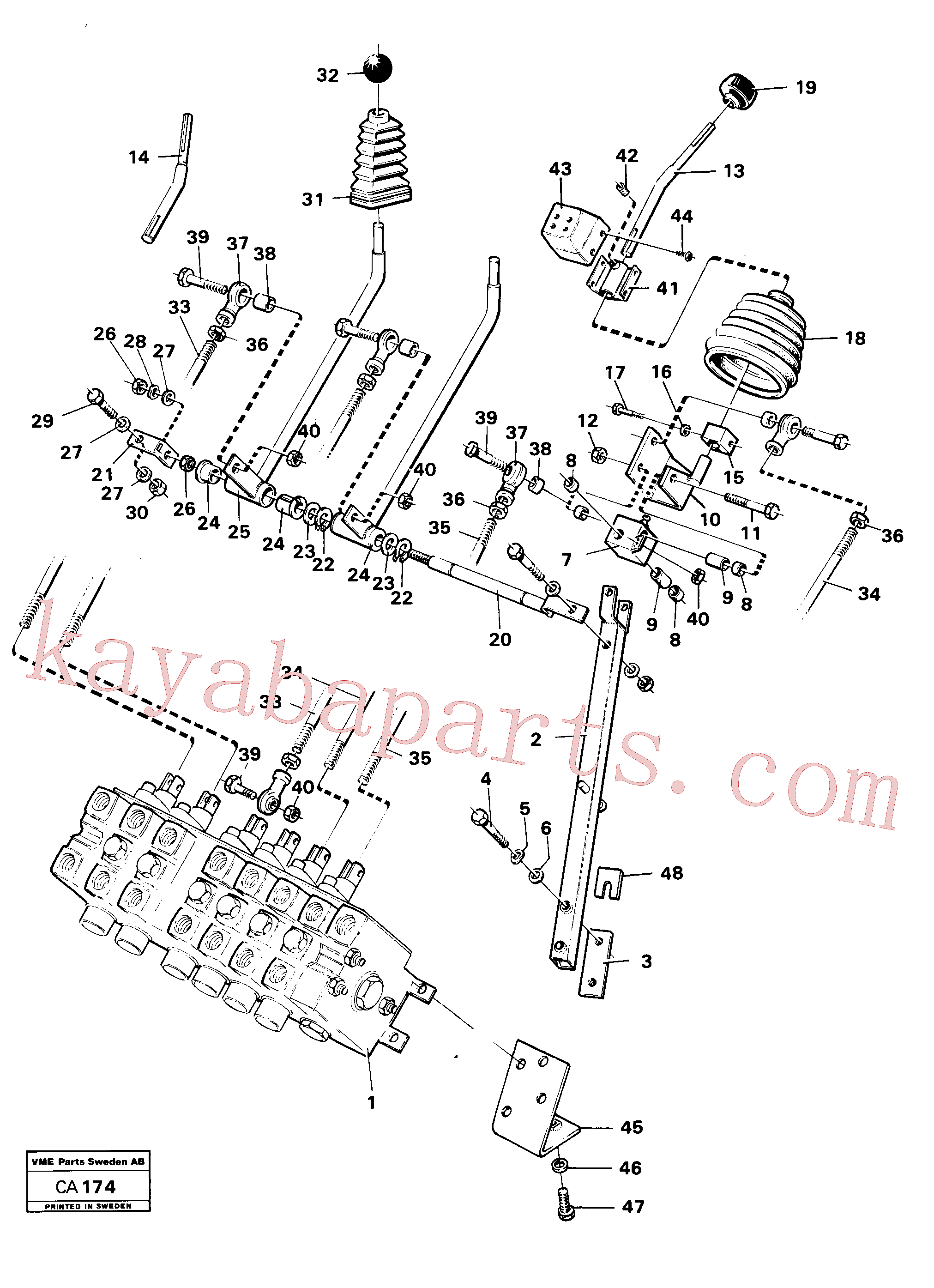 VOE4953723 for Volvo Excavator controls(CA174 assembly)