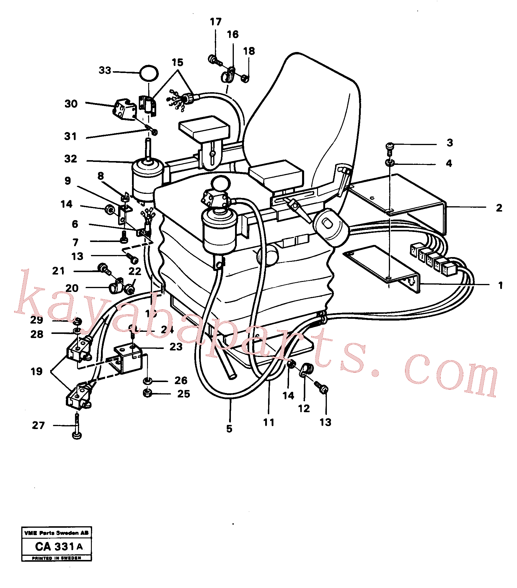 VOE4953723 for Volvo El. hydraulic servo system Operating lever(CA331A assembly)