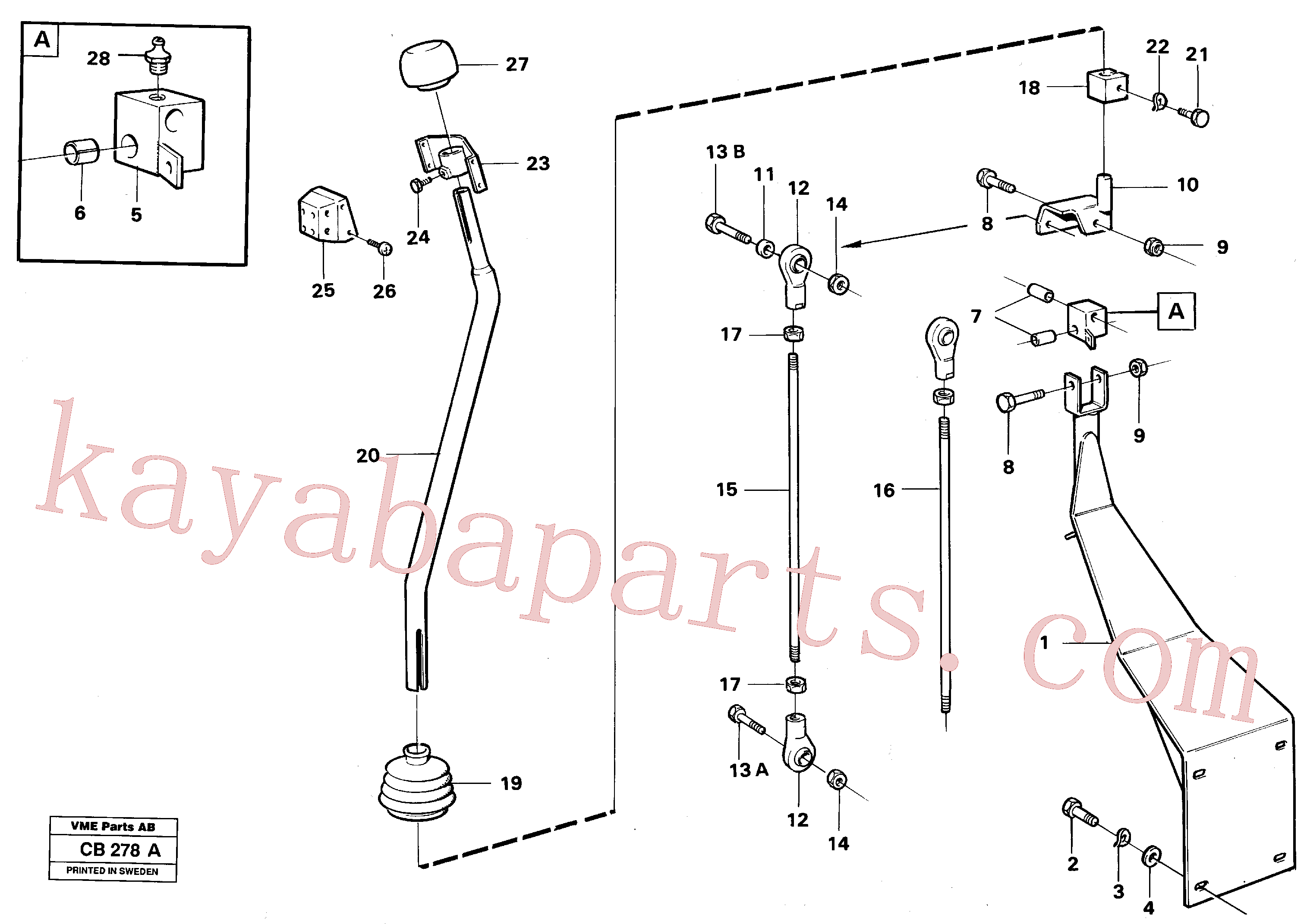 VOE4953723 for Volvo Loader controls(CB278A assembly)
